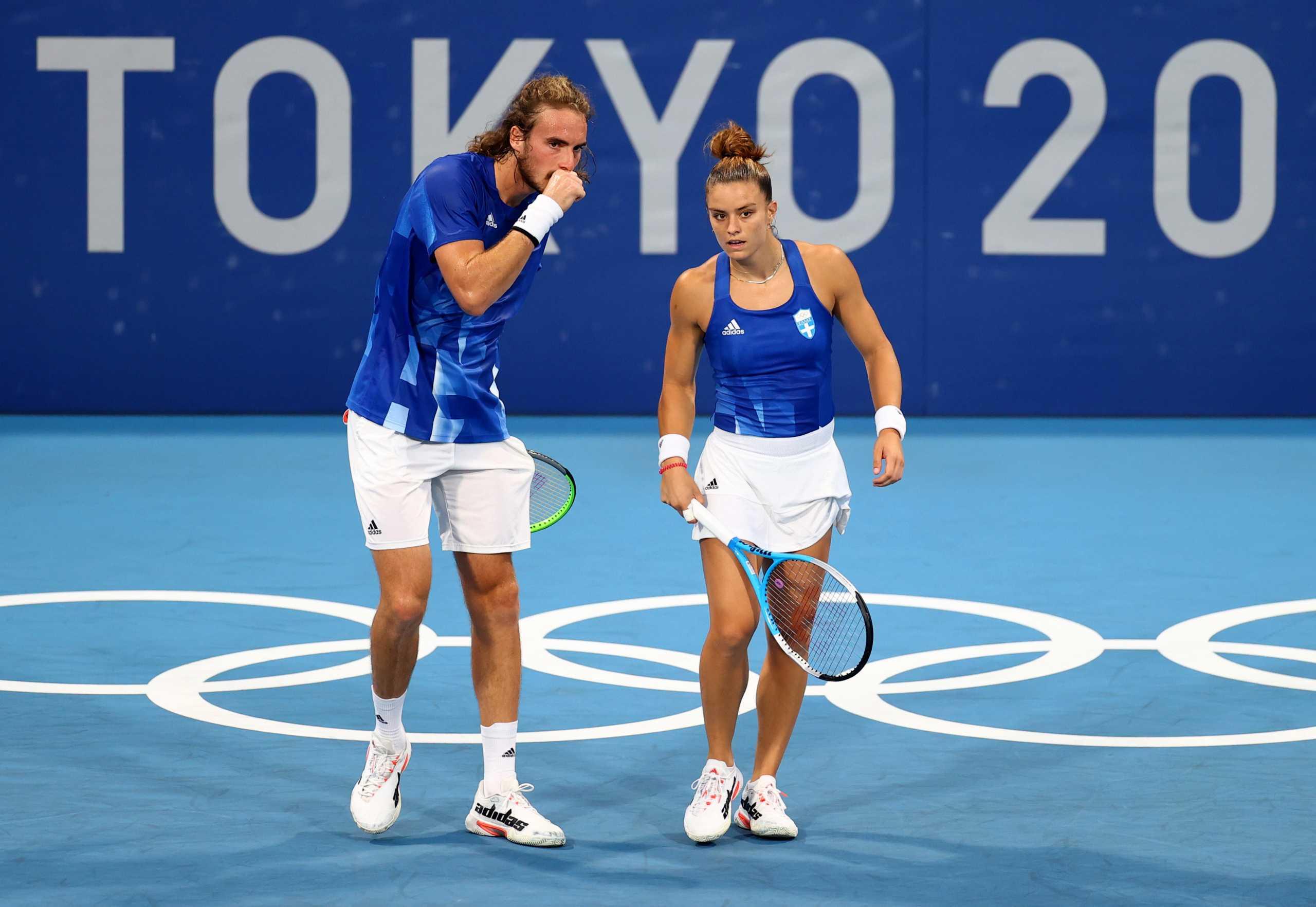 Στέφανος Τσιτσιπάς – Μαρία Σάκκαρη: Πρόκριση στα προημιτελικά του μεικτού διπλού στο τένις