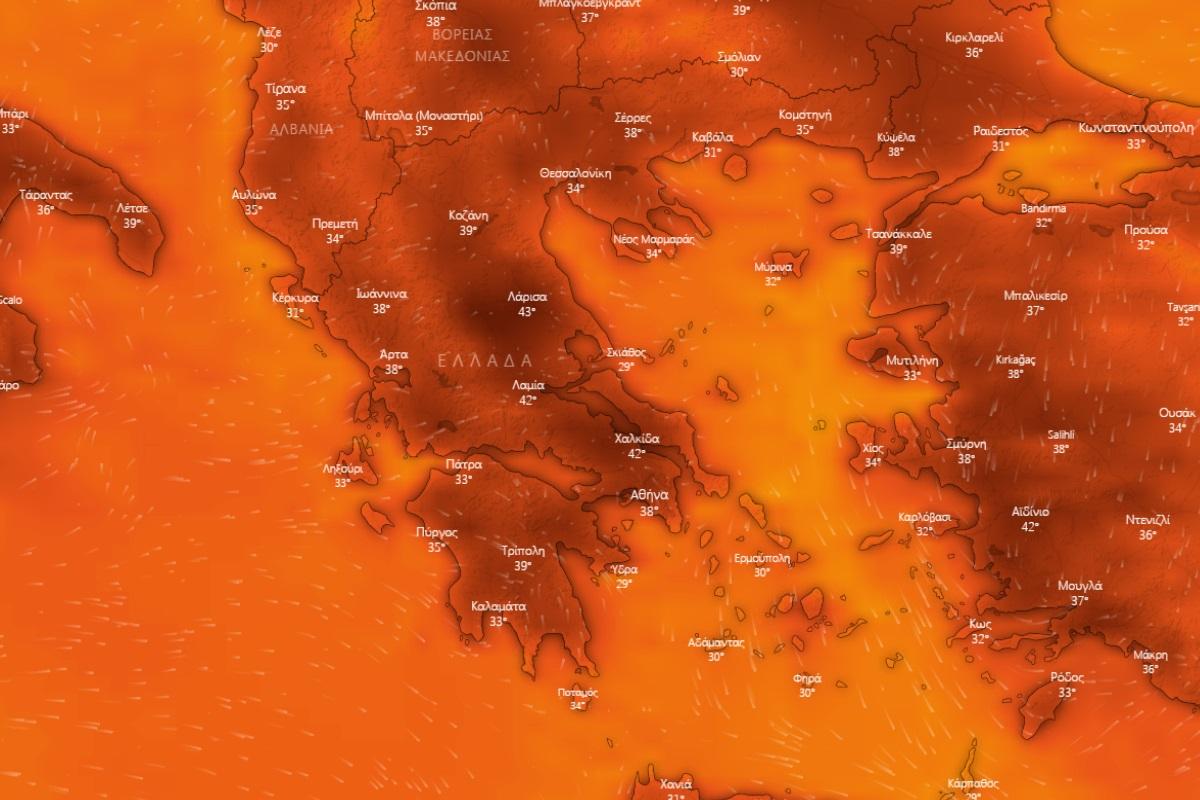 Καιρός: Έρχεται καύσωνας διάρκειας 10 ημερών – Πάνω από τους 43°C το θερμόμετρο