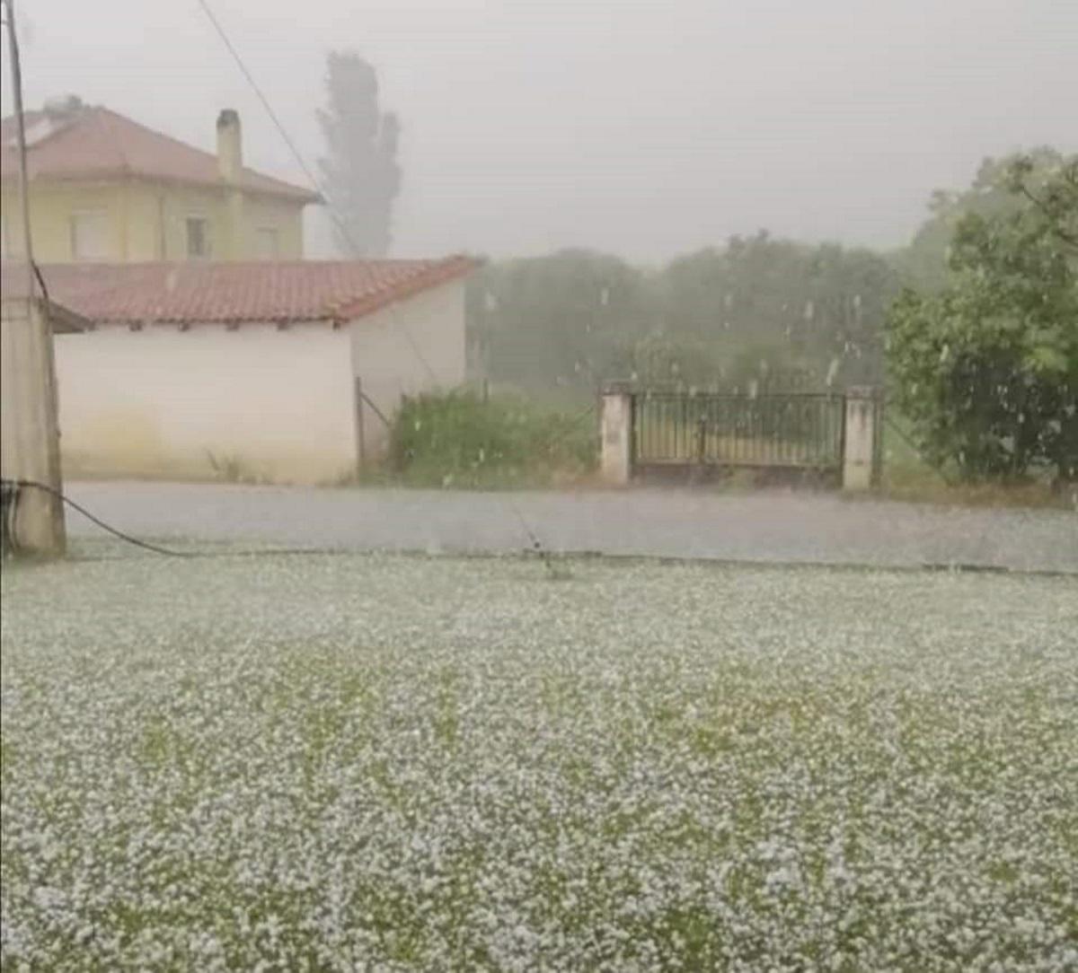 Χαλάζι και προβλήματα στην Ξάνθη: Μετρούν τις πληγές τους οι αγρότες
