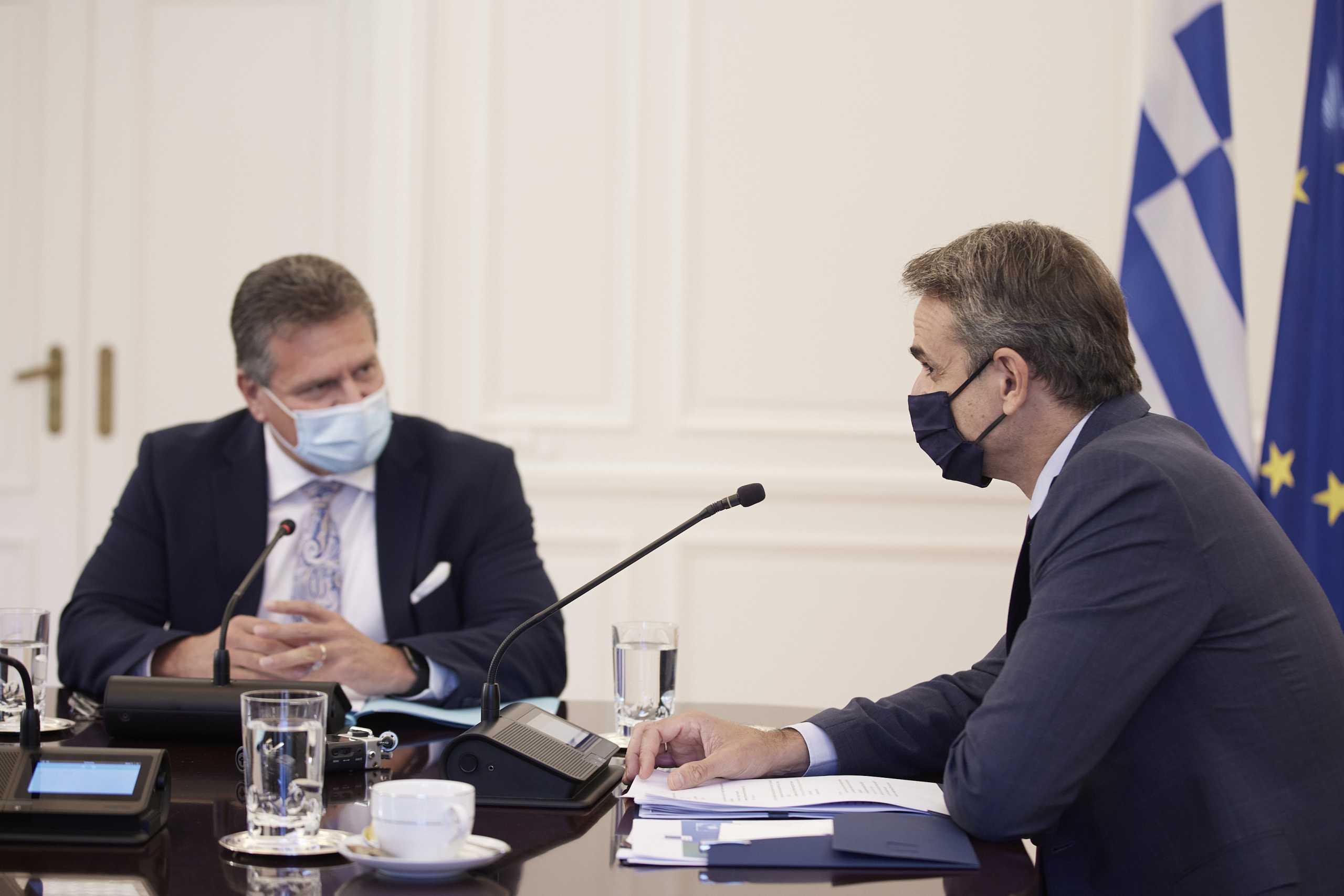 Κυριάκος Μητσοτάκης: Συναντήθηκε με τον αντιπρόεδρο της Ευρωπαϊκής Επιτροπής για τις προκλήσεις που θα αντιμετωπίσει η ΕΕ τα επόμενα χρόνια