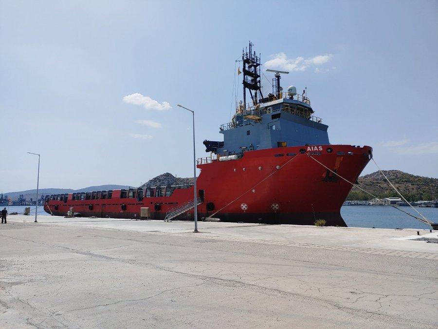 ΑΙΑΣ: Κατέπλευσε το νέο Πλοίο Γενικής Υποστήριξης του Πολεμικού Ναυτικού