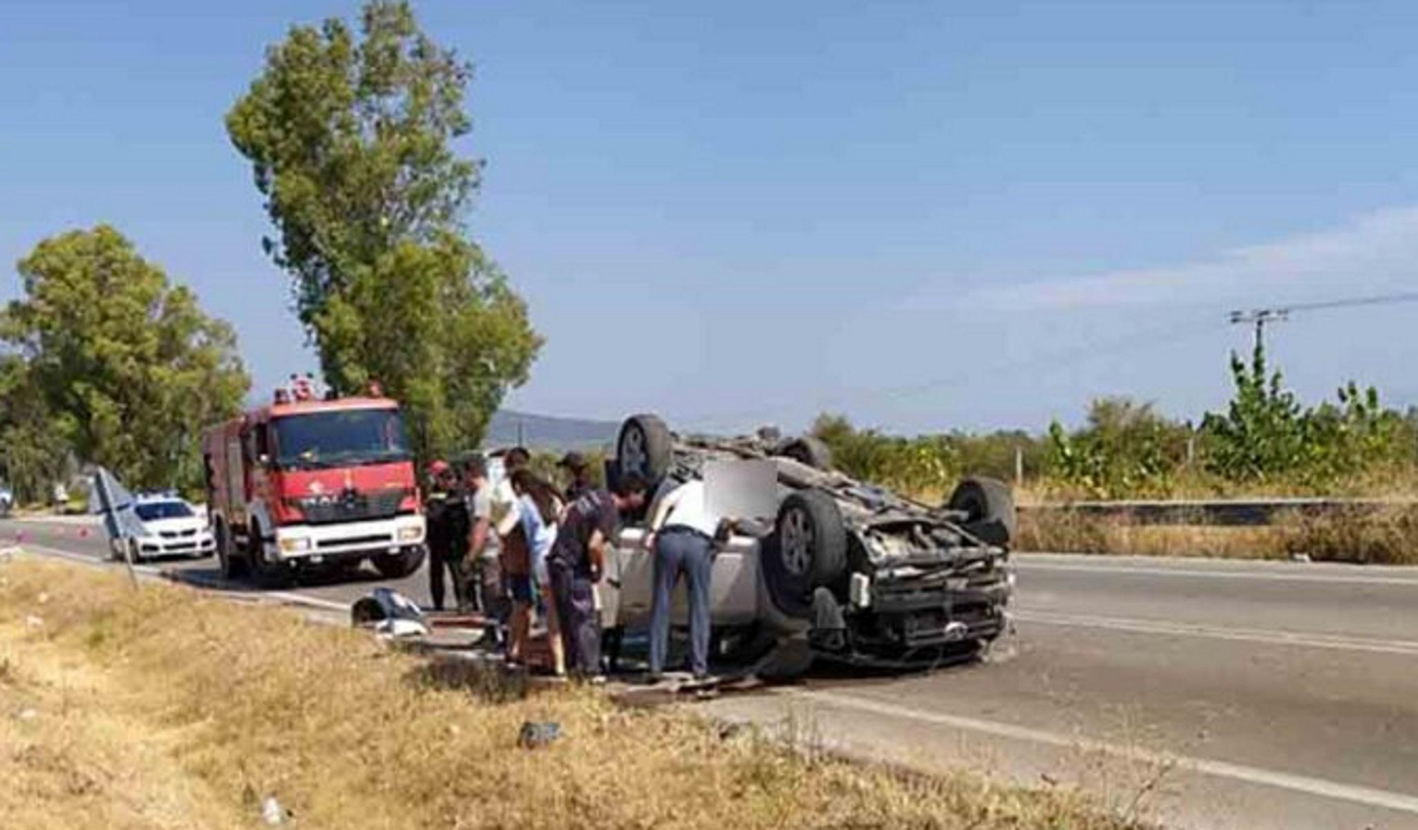 Τροχαίο με έναν τραυματία στον δρόμο Αγρινίου – Αμφιλοχίας: Τουμπάρισε αυτοκίνητο με τρέιλερ