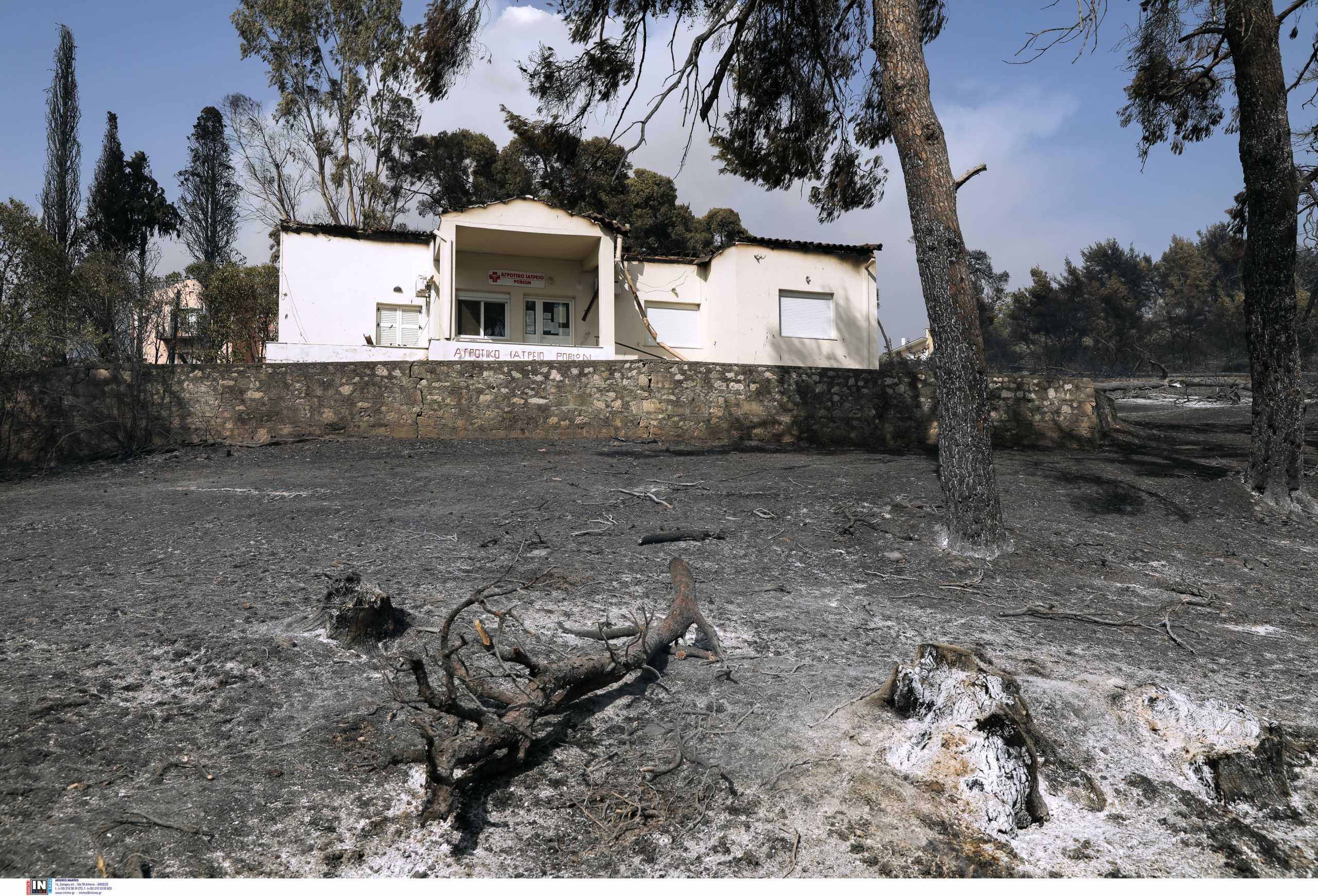 Φωτιά στην Εύβοια: Κάηκε το σπίτι πολίστα της Εθνικής