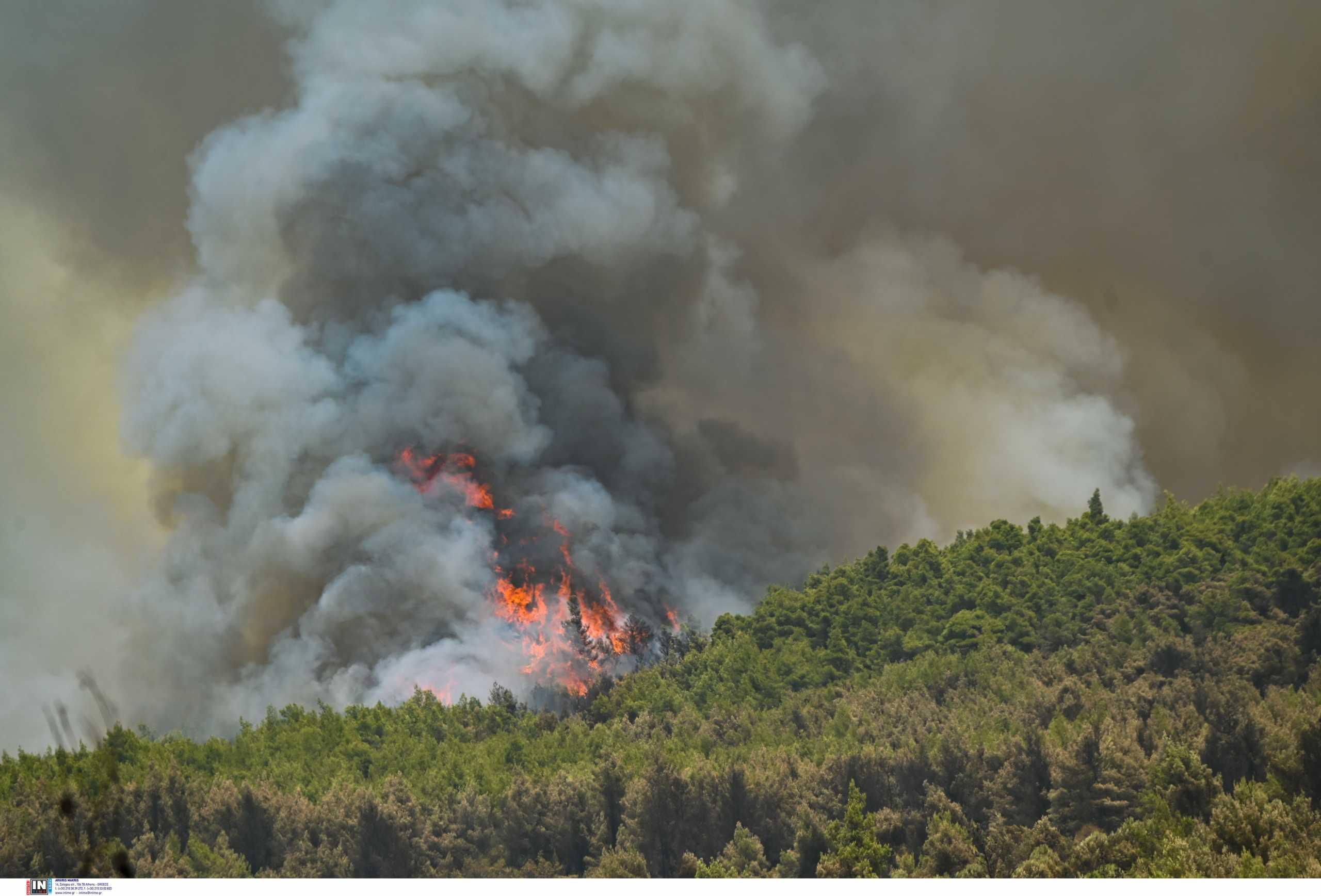 Εκκενώνονται 5 οικισμοί στα Γρεβενά λόγω πυρκαγιάς