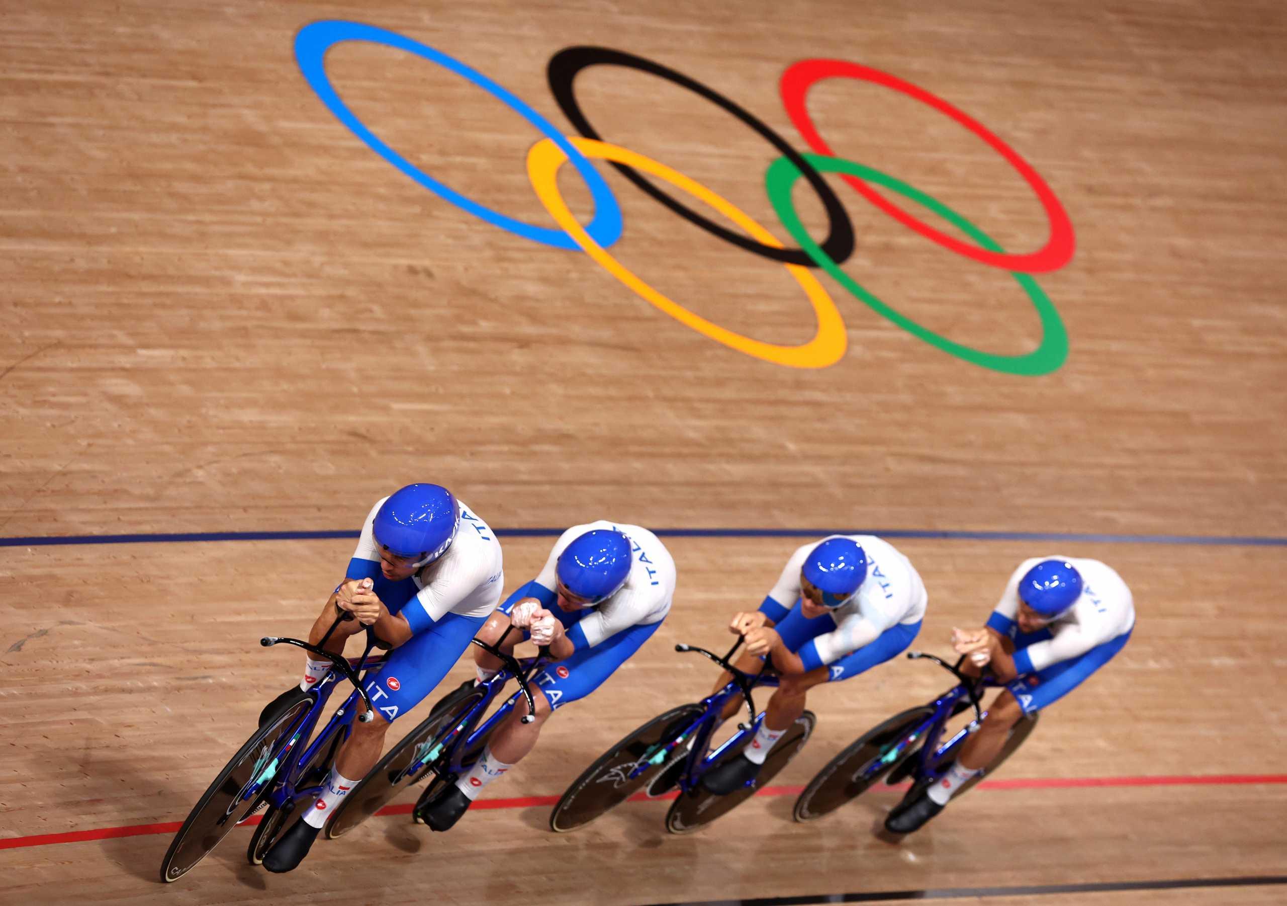 Ολυμπιακοί Αγώνες: «Χρυσή» και με παγκόσμιο ρεκόρ η Ιταλία στην ομαδική καταδίωξη της ποδηλασίας