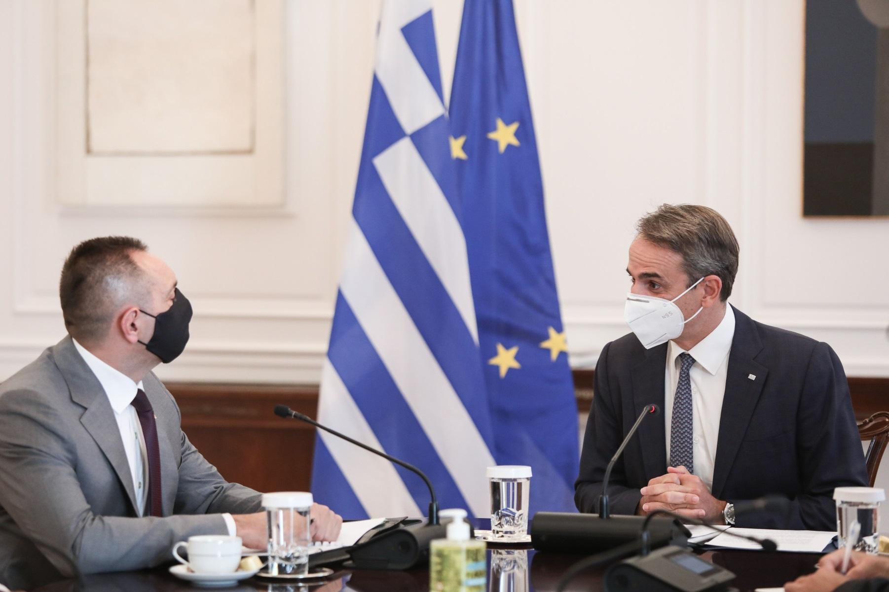 Φωτιές – Κυριάκος Μητσοτάκης: Δέχτηκε τον Σέρβο υπουργό Εσωτερικών και τον ευχαρίστησε για τη βοήθεια