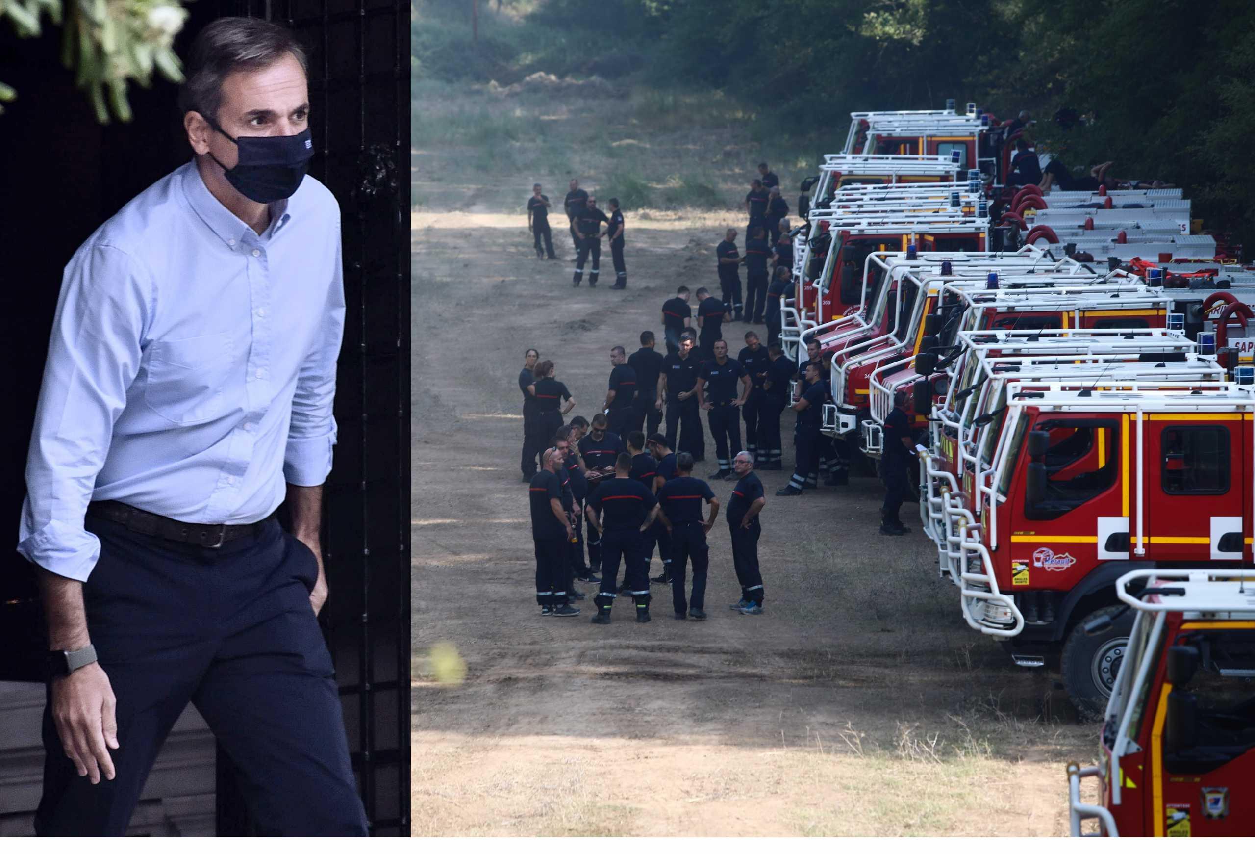 Ενισχύονται τα ελληνικά πεζοπόρα τμήματα με πυροσβέστες από το εξωτερικό – Το «ευχαριστώ» του Κυριάκου Μητσοτάκη