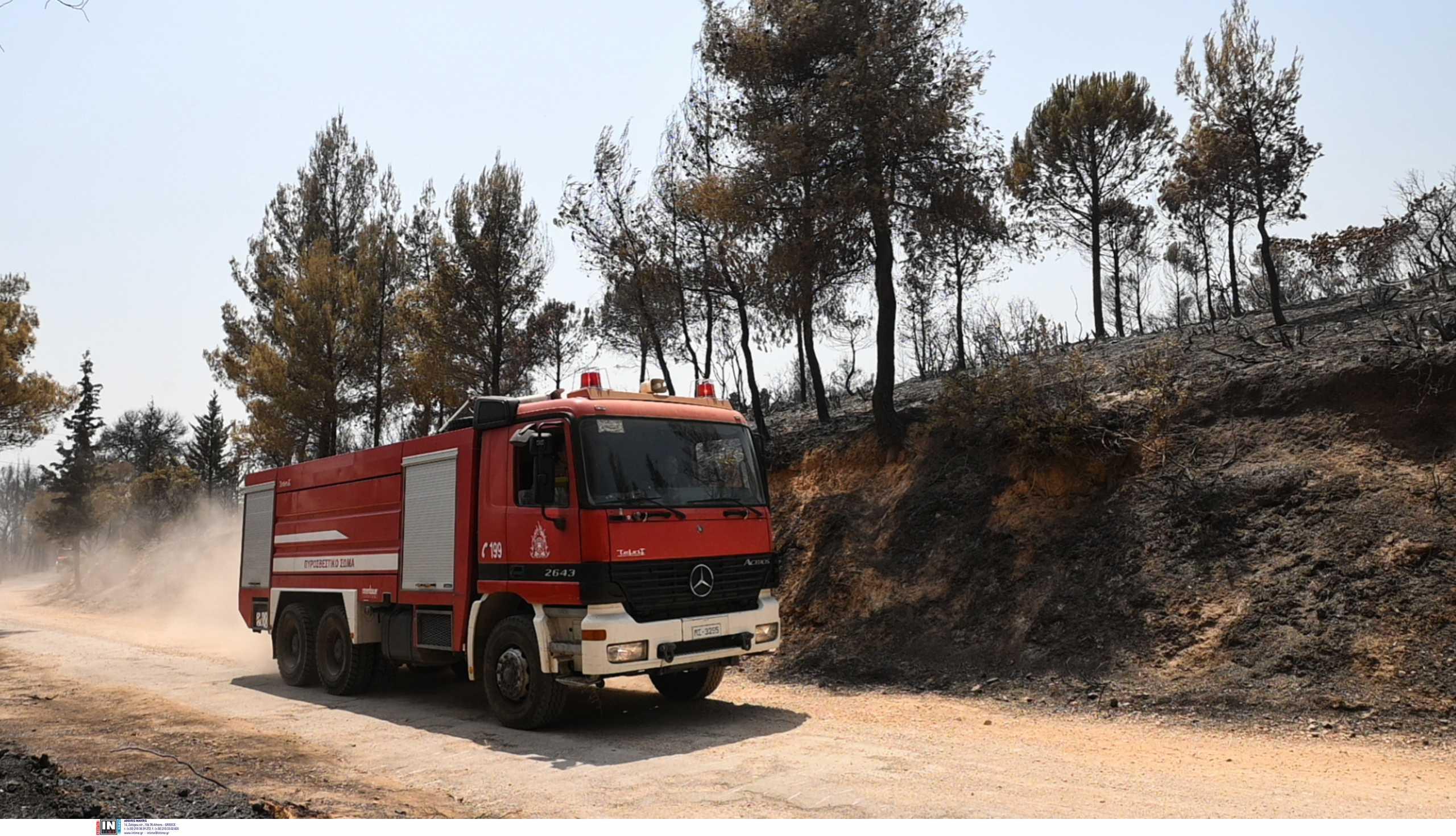 Ηράκλειο: Φωτιά κοντά στο αεροδρόμιο της Πολεμικής Αεροπορίας