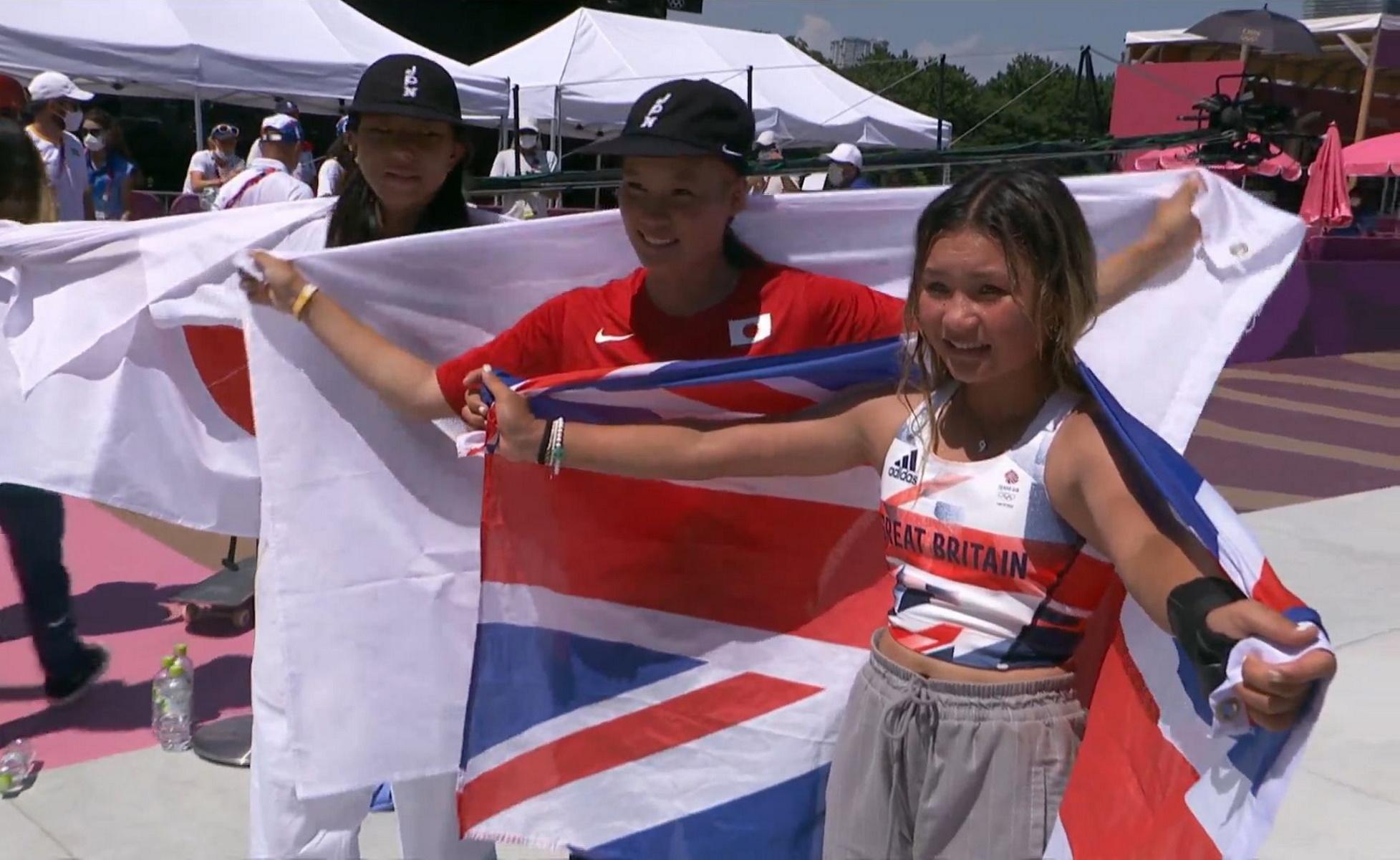 Ολυμπιακοί Αγώνες: Μια 12χρονη και μια 13χρονη στο βάθρο στο σκέιτμπορντ
