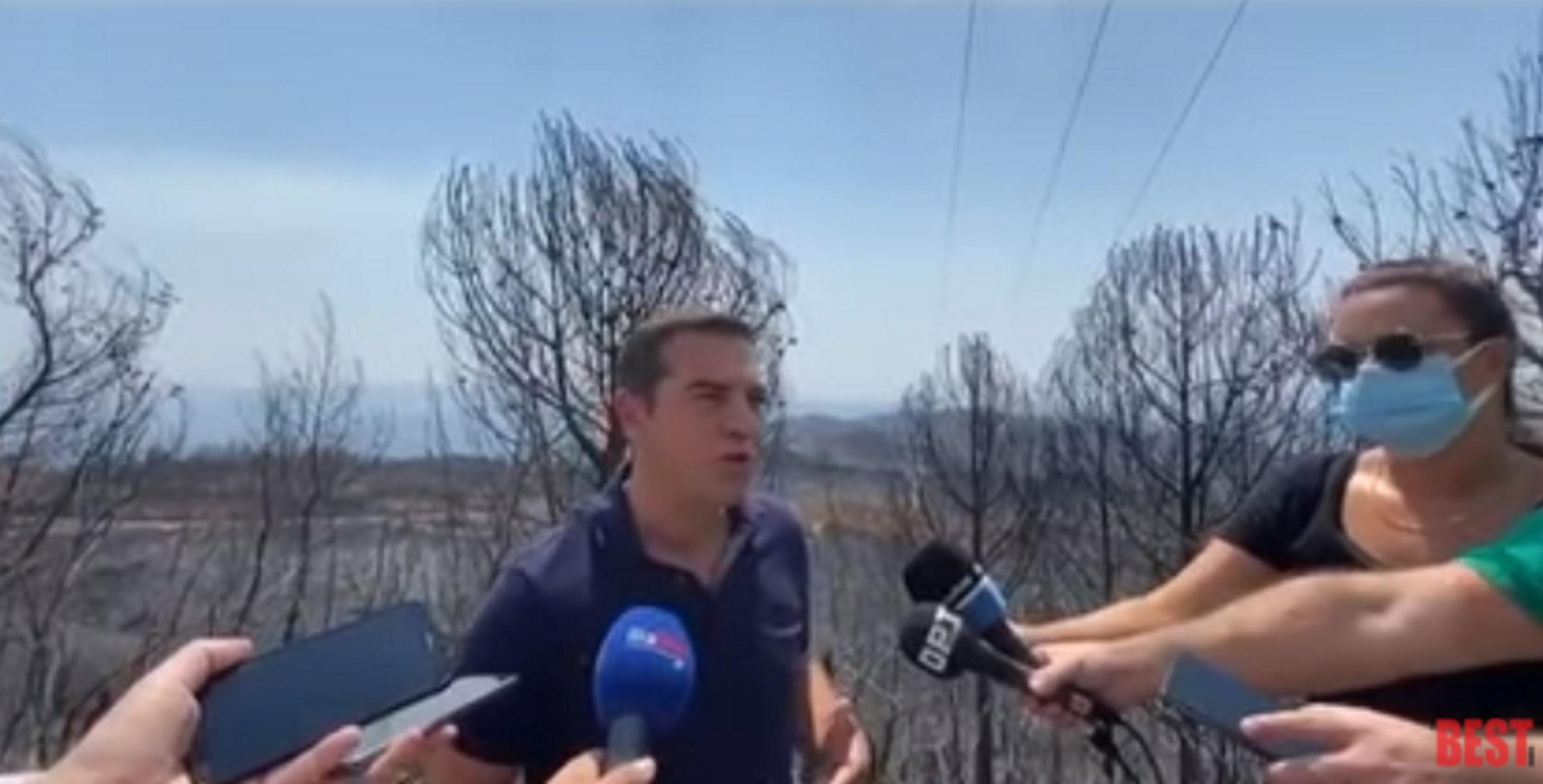 Φωτιά στην Ηλεία – Αλέξης Τσίπρας: O Κυριάκος Μητσοτάκης δεν έχει καταλάβει το μέγεθος της καταστροφής