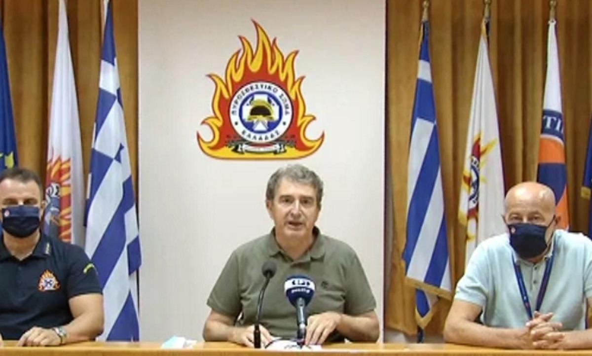 Μιχάλης Χρυσοχοΐδης: Έχει οριοθετηθεί το μεγαλύτερο μέρος της φωτιάς στα Βίλια