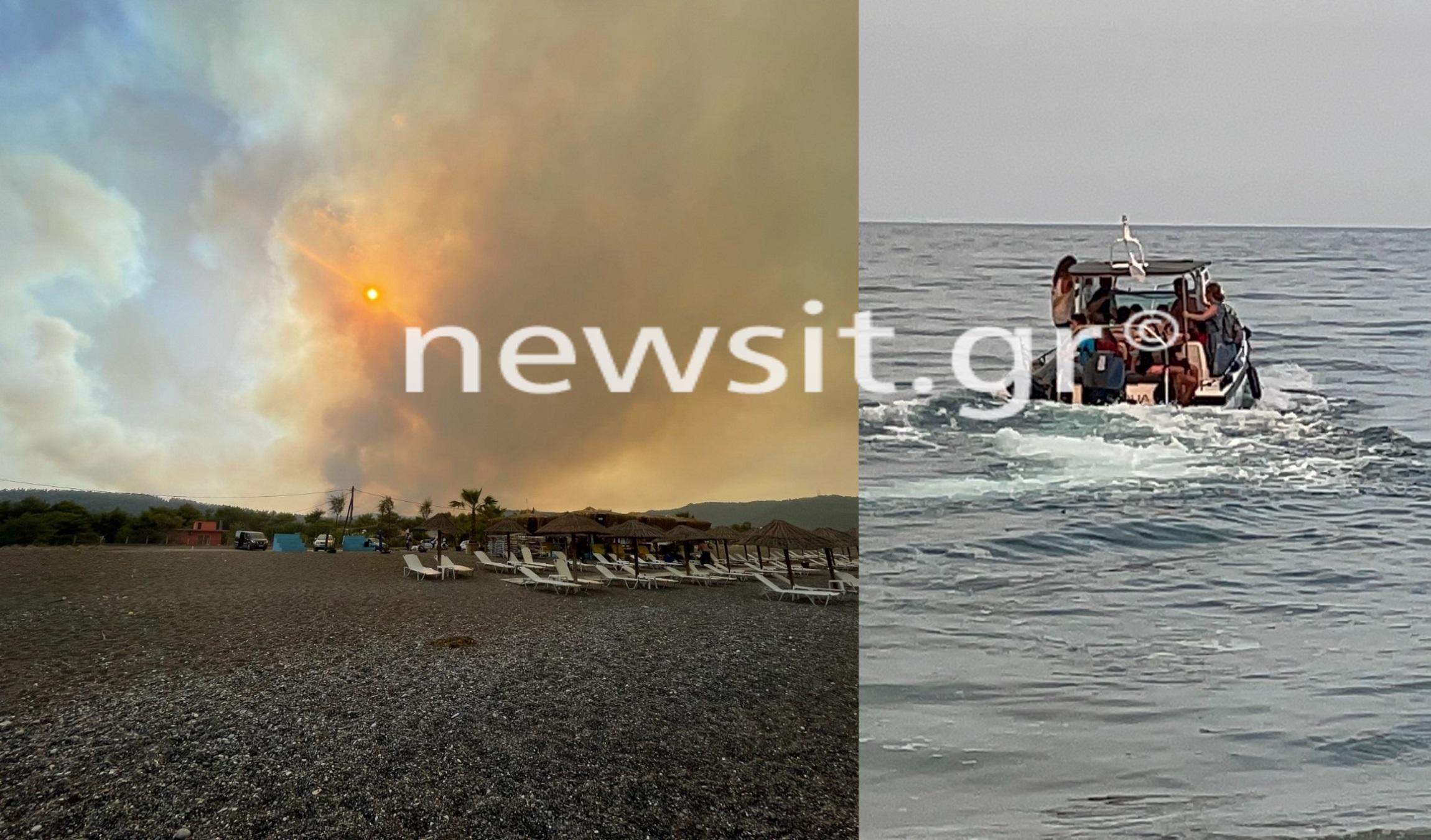 Φωτιά στην Εύβοια: Το Newsit.gr στην Αγία Άννα – Καρέ καρέ η εκκένωση του κάμπινγκ
