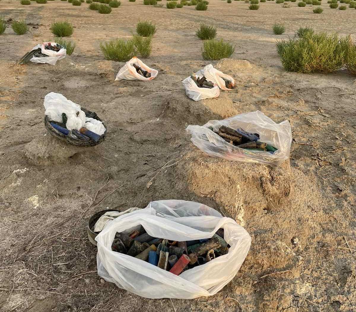 Χαλκιδική: Μάζεψαν 10 κιλά φυσίγγια από υγρότοπο που απαγορεύεται το κυνήγι