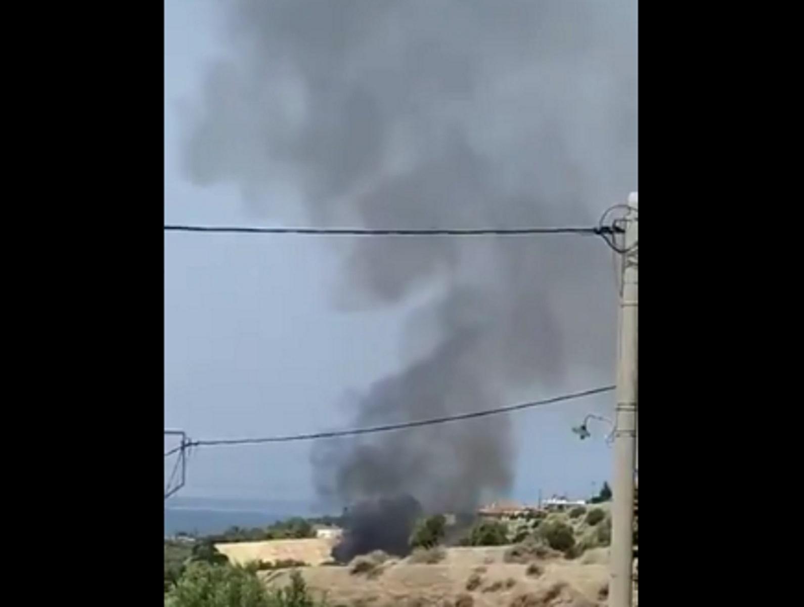 Φωτιά τώρα στο Αλεποχώρι – Εικόνες από το σημείο