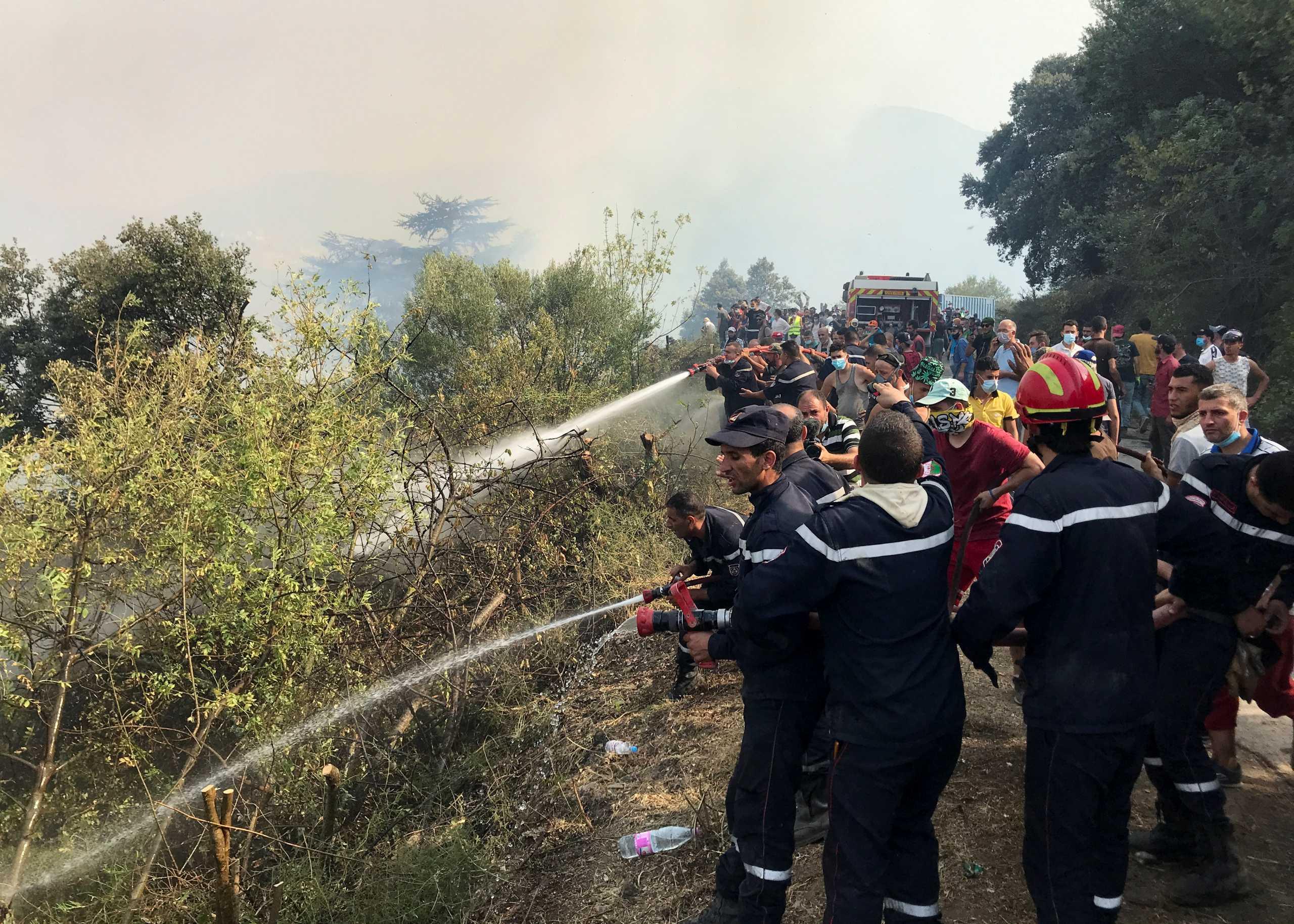 Φωτιές στην Αλγερία: Πυροσβέστες, στρατιώτες και εθελοντές σβήνουν τα τελευταία μέτωπα – Σχεδόν 90 οι νεκροί