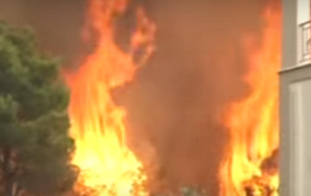 Πανικός στον αέρα – Ρεπόρτερ από Alpha κι Open έτρεχαν για να ξεφύγουν από τις φλόγες
