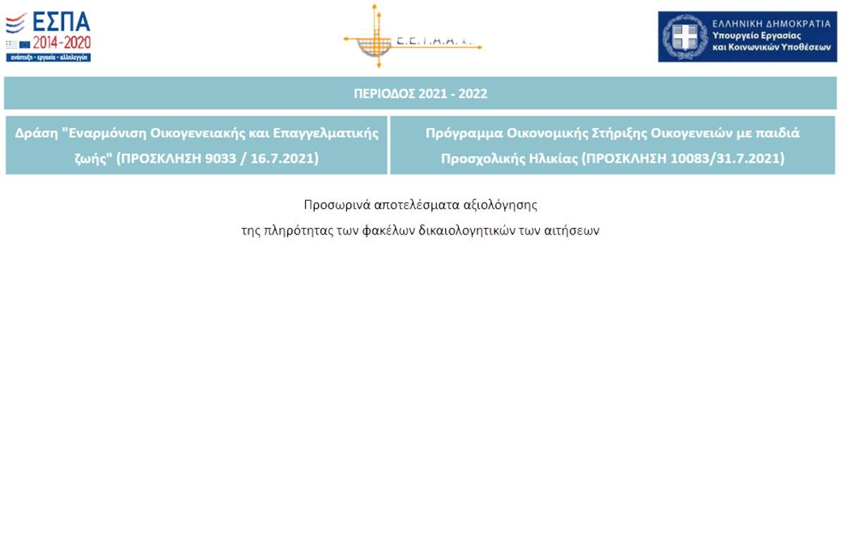 ΕΣΠΑ 2021: Βγήκαν τα προσωρινά αποτελέσματα για τους παιδικούς σταθμούς