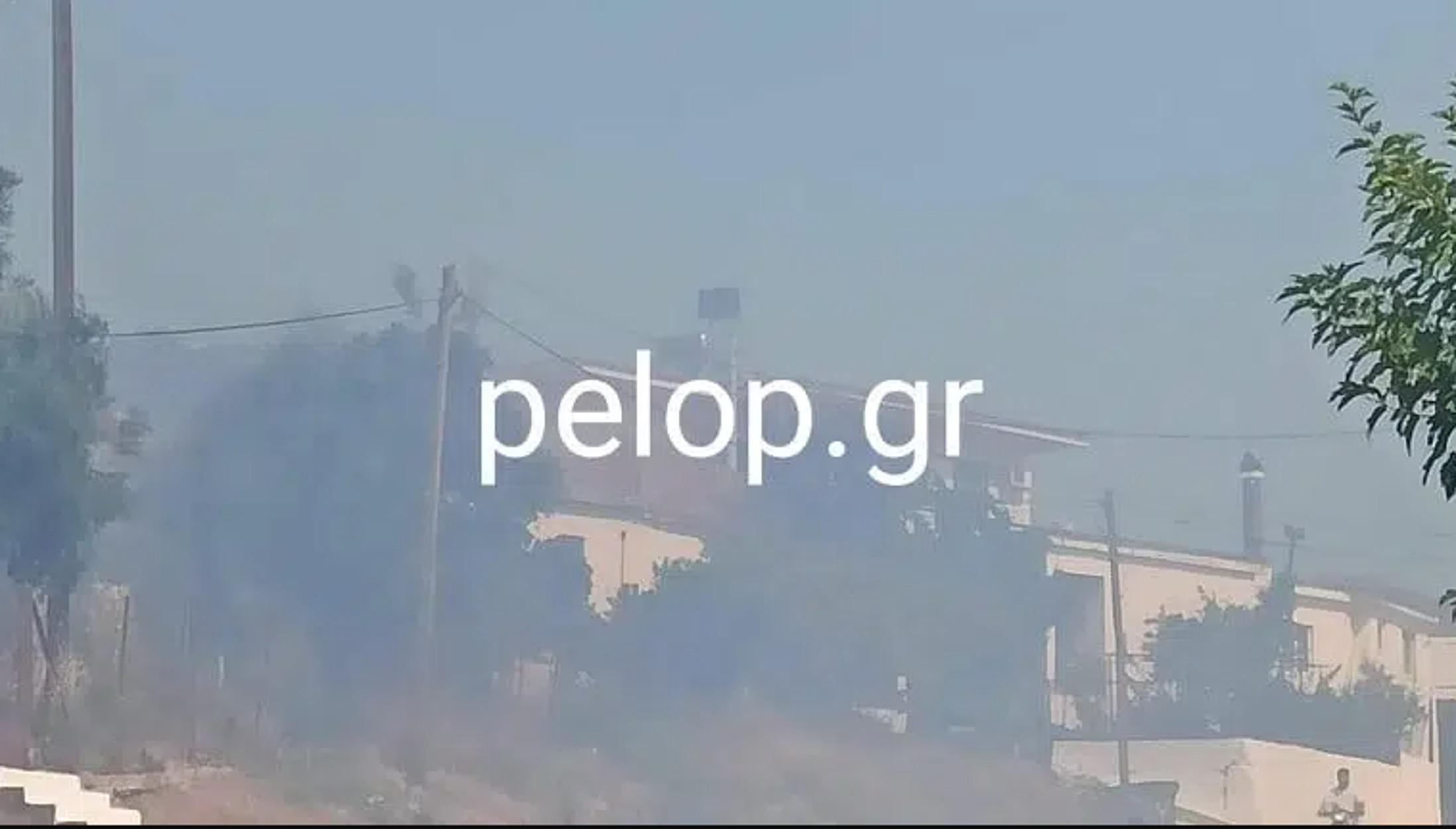 Φωτιά στην Αχαΐα – Ξέσπασε μέσα στο χωριό Άρλα