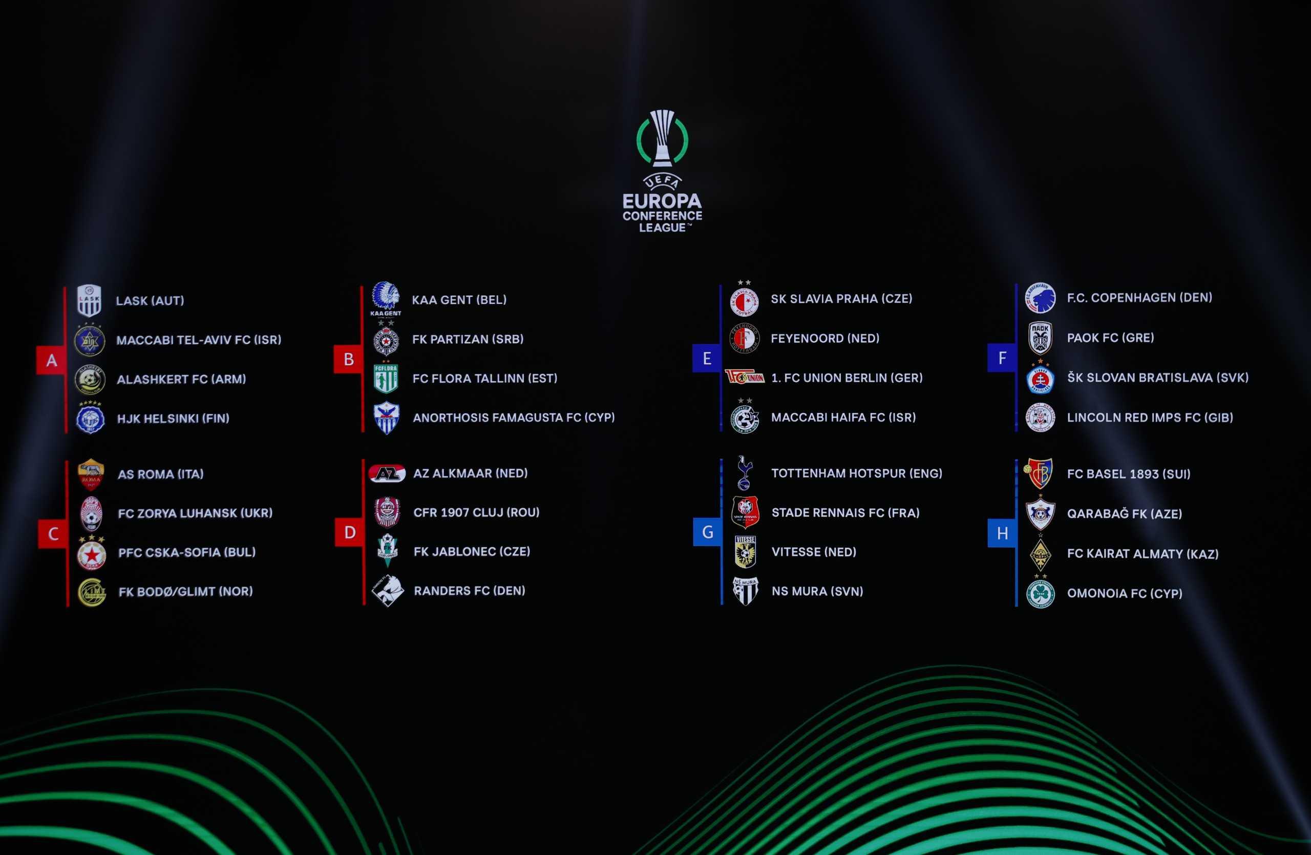 ΠΑΟΚ – Conference League: Το προφίλ των Κοπεγχάγη, Σλόβαν Μπρατισλάβας και Λίνκολν