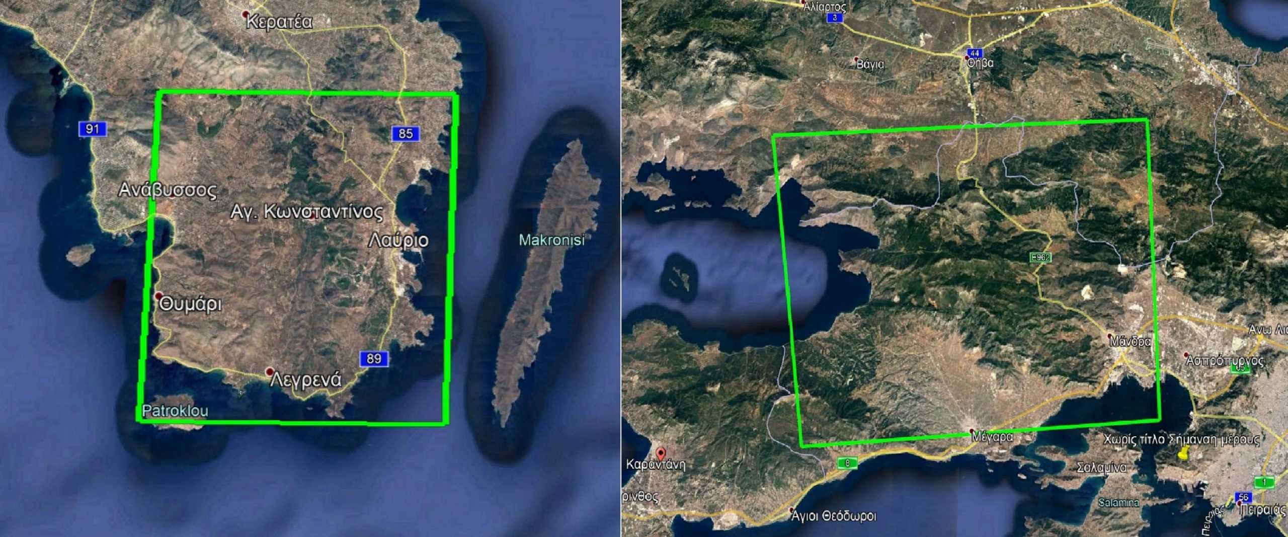 Φωτιές σε Βίλια – Κερατέα: Ενεργοποίηση της υπηρεσίας Copernicus για την άμεση χαρτογράφηση των καμένων