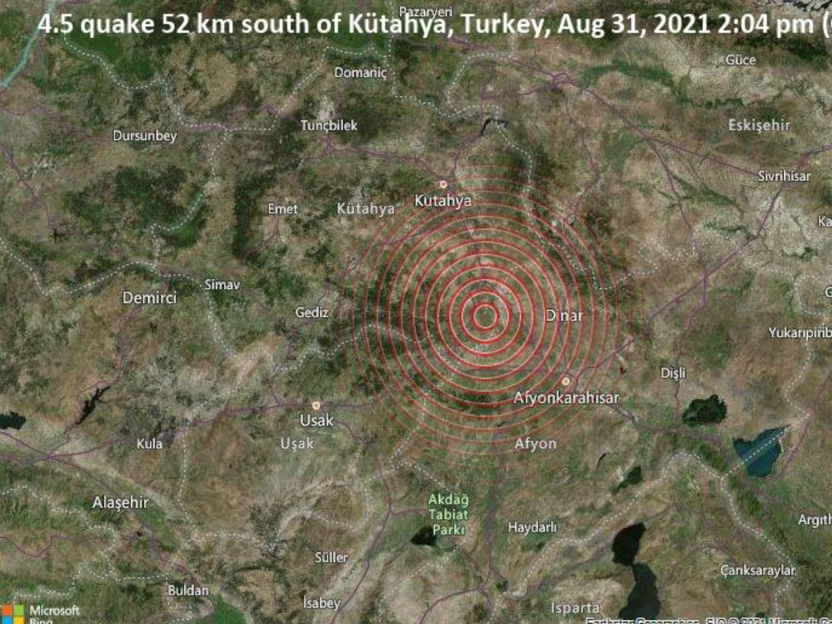 Σεισμός στην Τουρκία: 4,5 Ρίχτερ κοντά στην Κιουτάχια