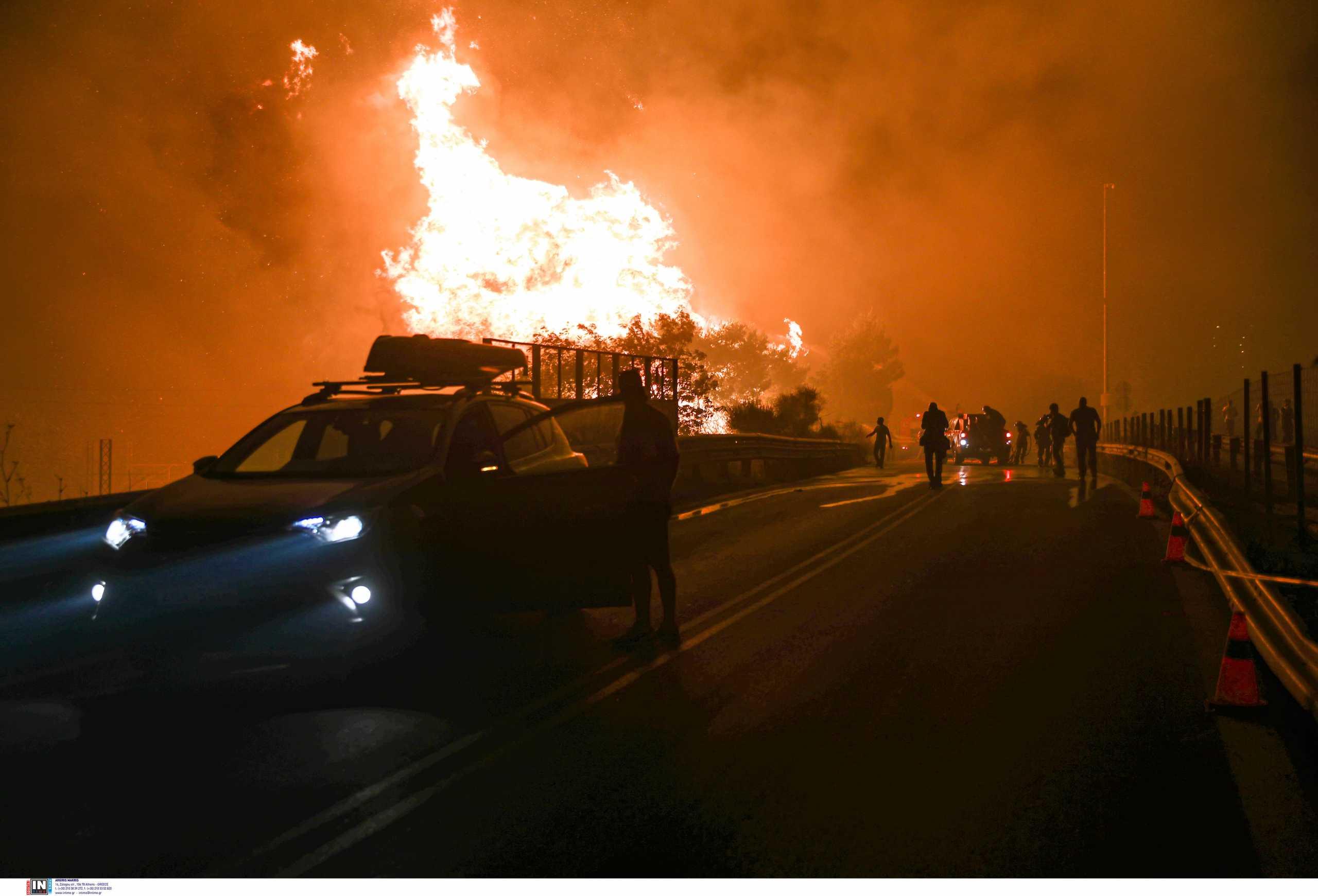Φωτιά στην Αττική: Διακόπηκε η κυκλοφορία στην Αθηνών – Λαμίας – Όλες οι ρυθμίσεις
