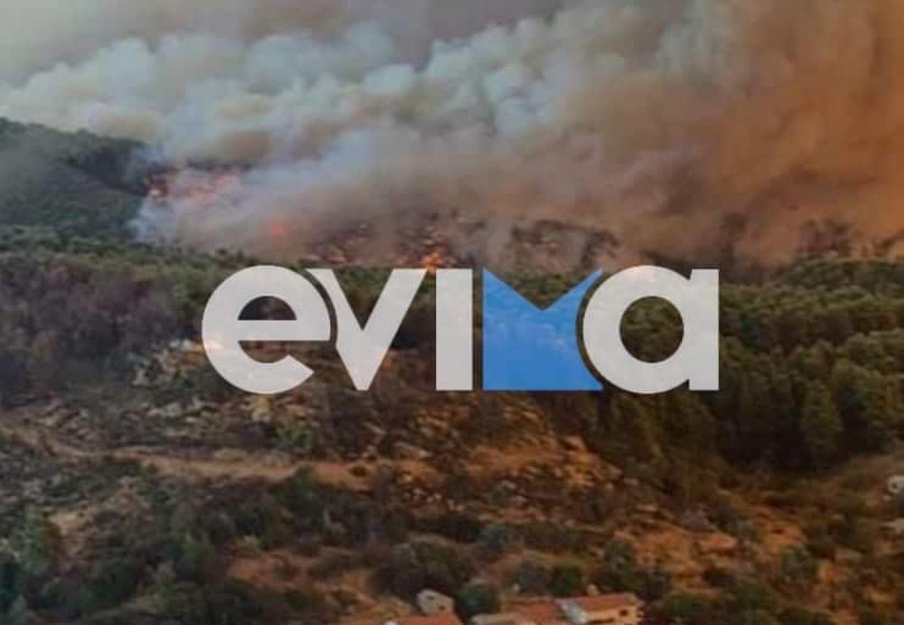 Φωτιά στην Εύβοια: Καίγεται ο Δήμος Ιστιαίας – «Περιμένουμε την καταστροφή μας»