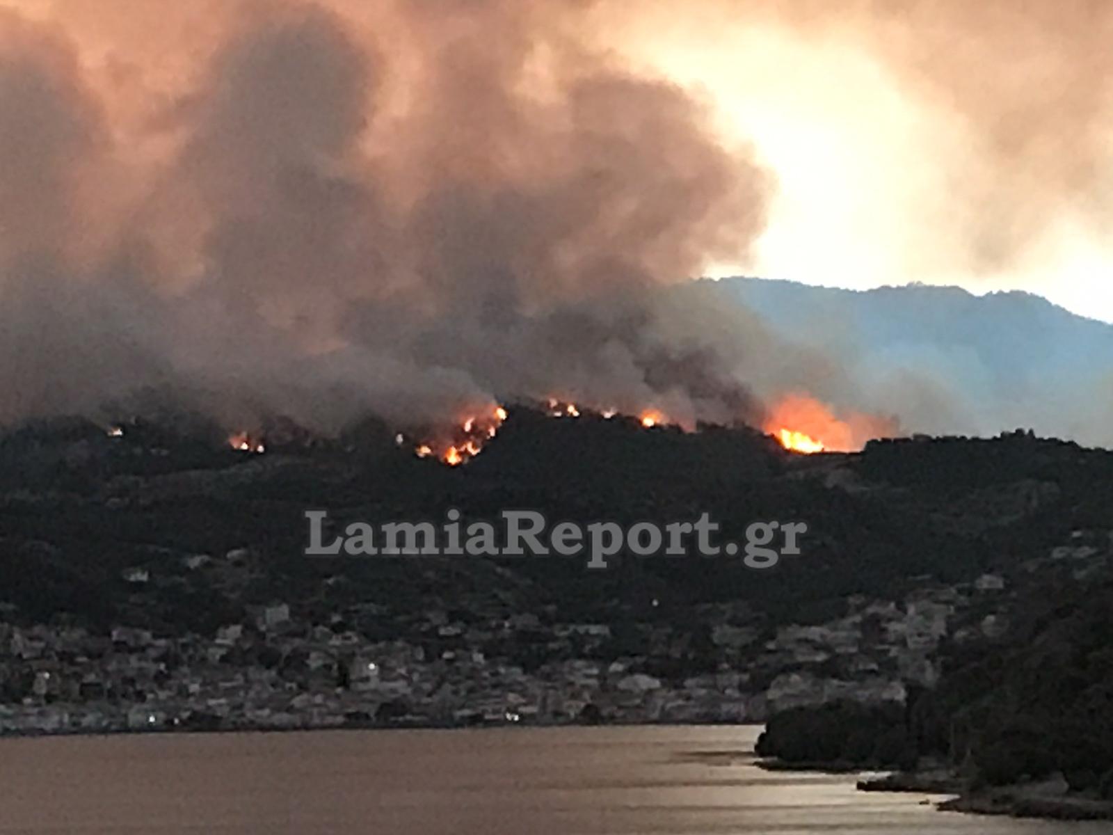 Φωτιά στην Εύβοια: Πύρινος εφιάλτης – Καθηλωμένα τα αεροσκάφη λόγω καπνού