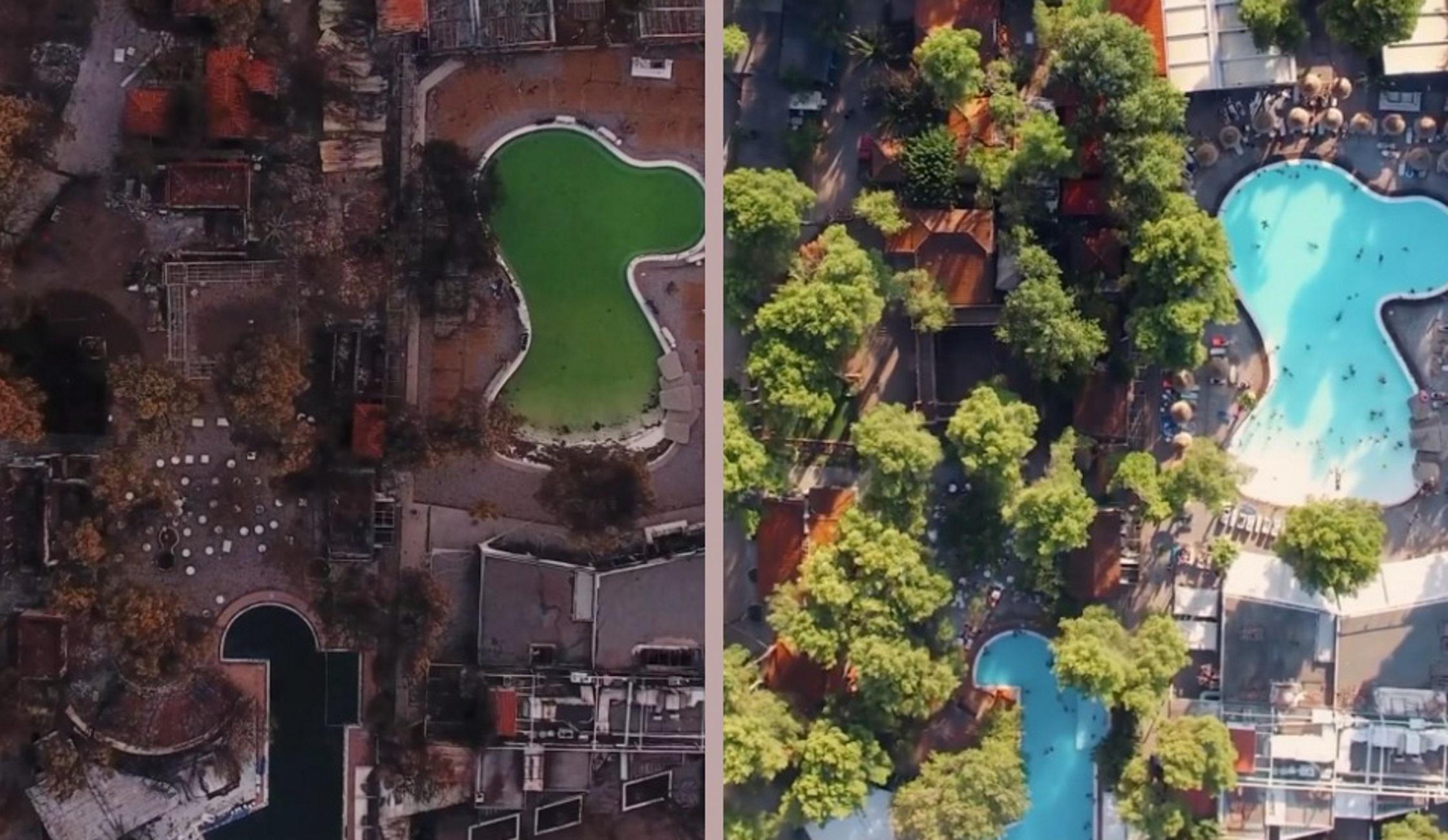 Εύβοια: Το πριν και το μετά της φωτιάς στην Αγία Άννα μέσα από ένα συγκλονιστικό βίντεο από drone