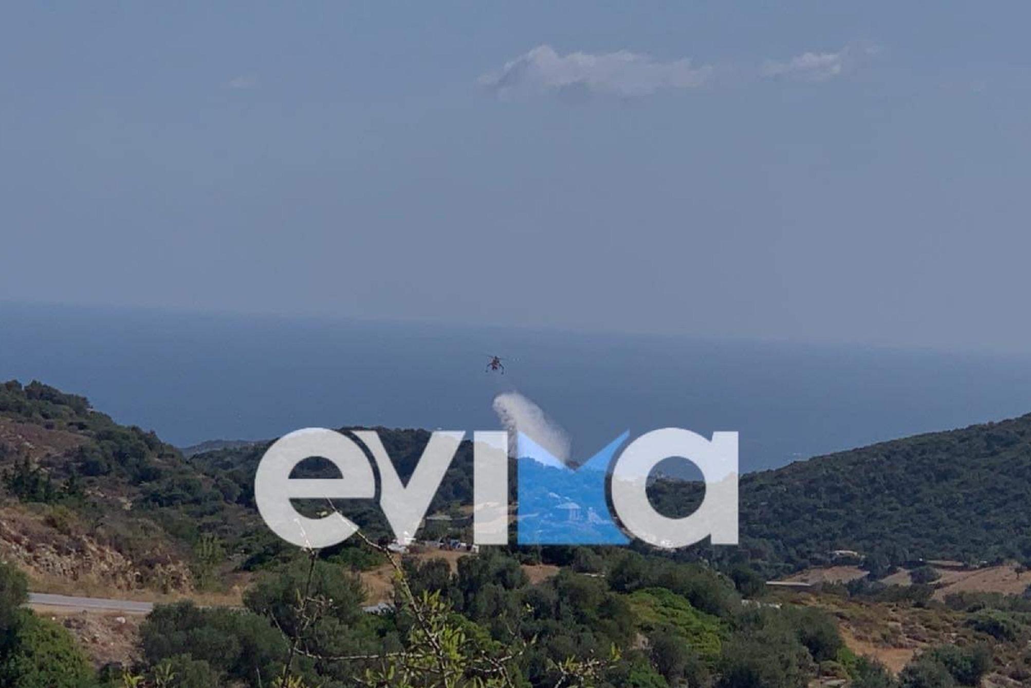 Φωτιά στις Πετριές: Εμπρησμό καταγγέλει στο newsit.gr ο δήμαρχος – Ισχυρές δυνάμεις στην περιοχή