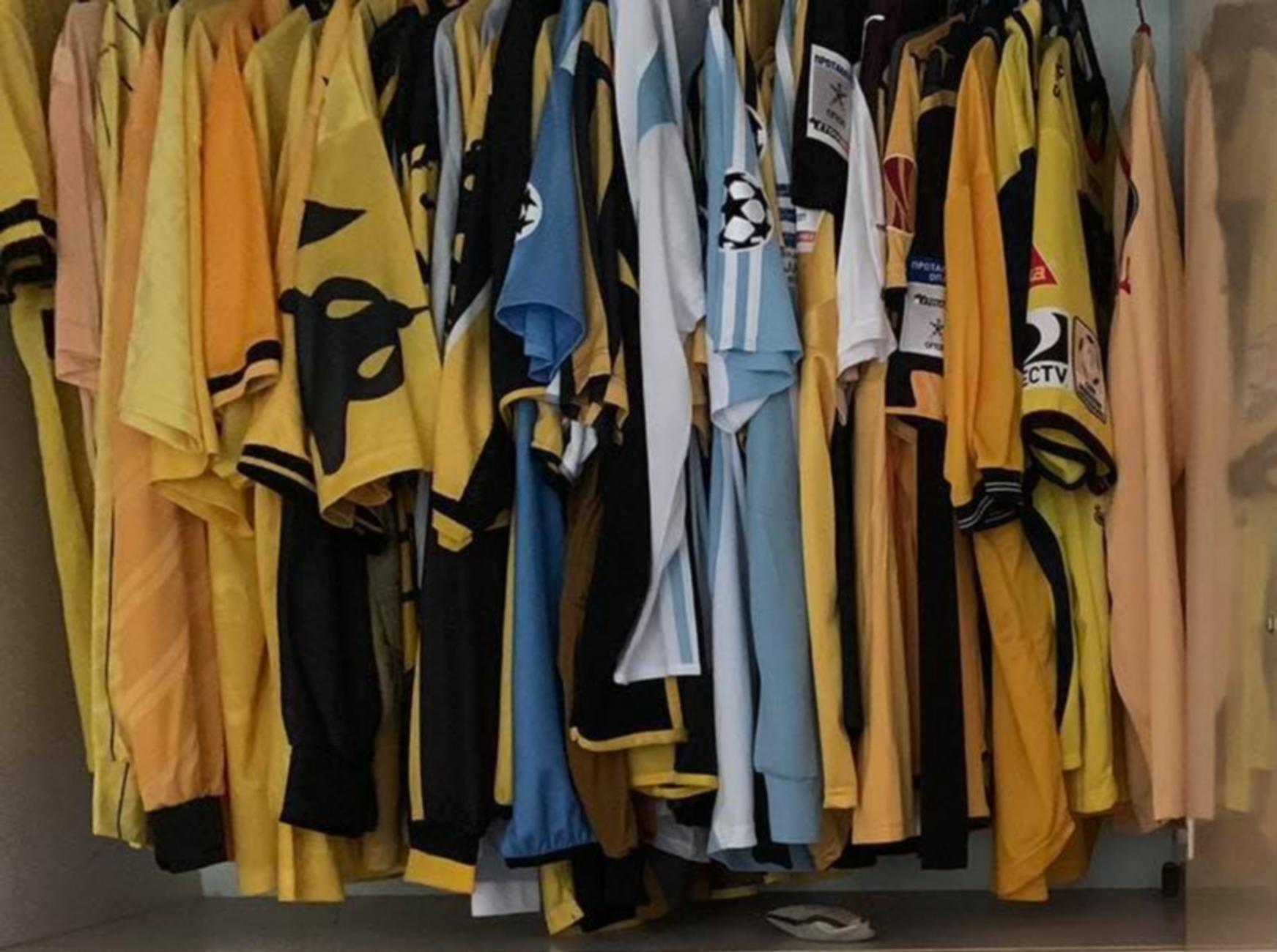 Γήπεδο ΑΕΚ: Έτοιμες για το μουσείο οι φανέλες της ομάδας
