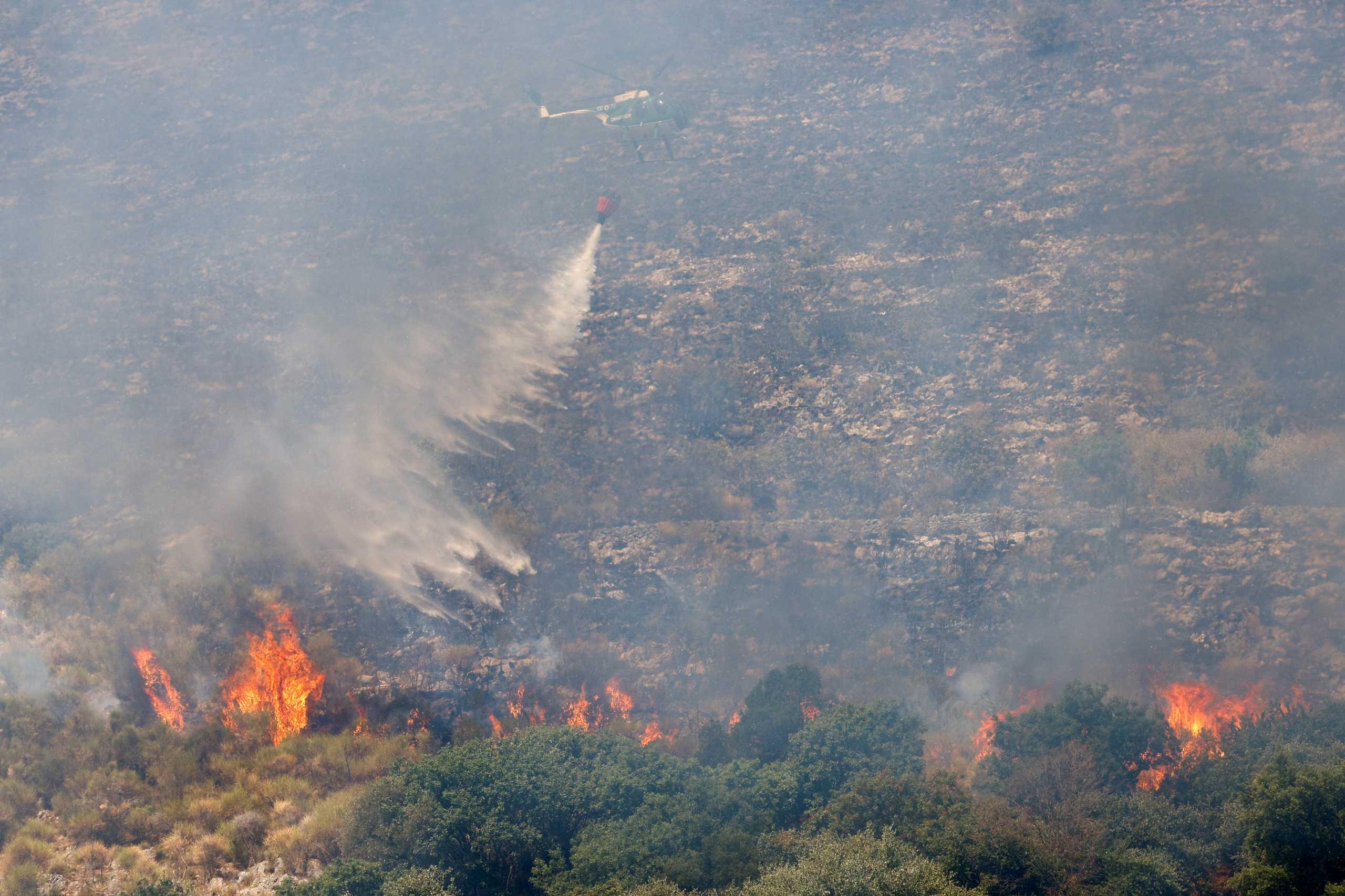 Ιταλία: Φωτιά ανατολικά της Ρώμης – Απομακρύνονται κάτοικοι