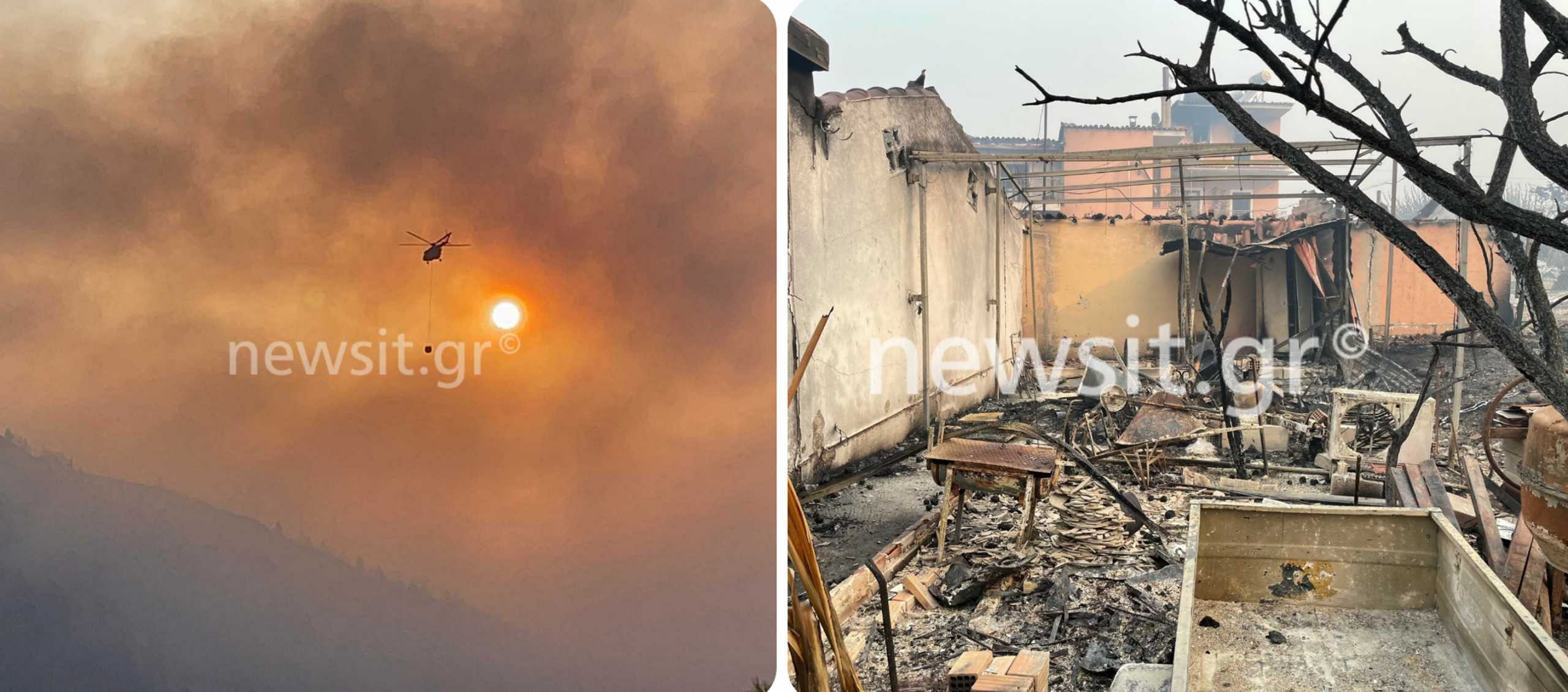 Φωτιά στην Εύβοια: Δεν σταματιέται το πύρινο μέτωπο – Βοήθεια από Σουηδία και Γαλλία