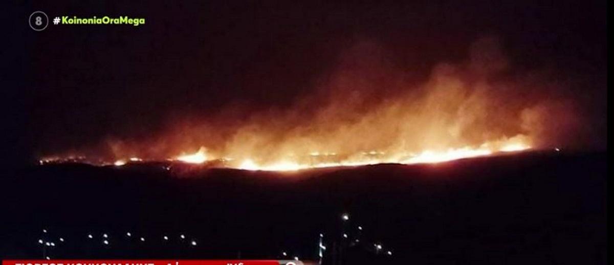 Κεραυνός προκάλεσε φωτιά στην Ύδρα