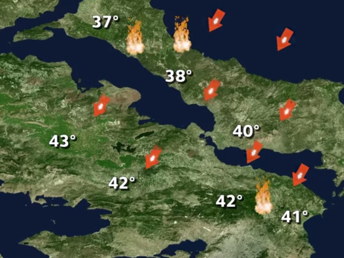 Καιρός – Κλέαρχος Μαρουσάκης: Επιμένει ο καύσωνας – Ισχυροί άνεμοι με 45°C