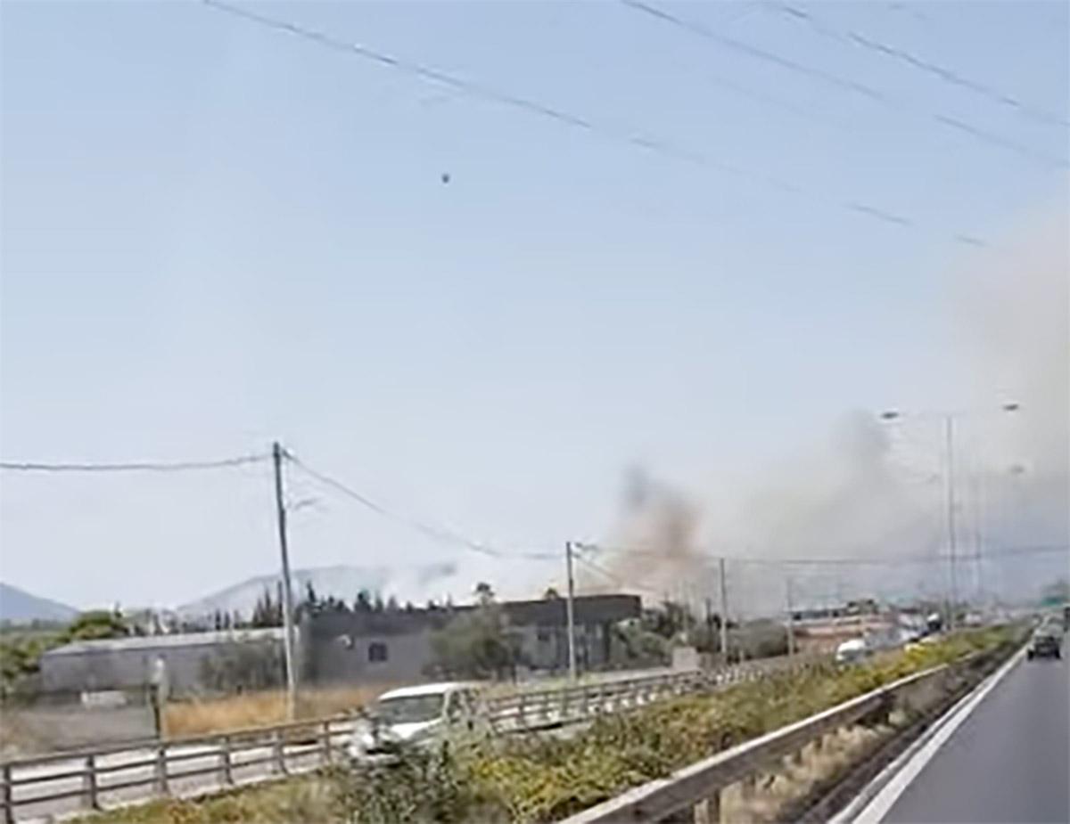 Φωτιά στο ΜαρκόπουλοΑττικής