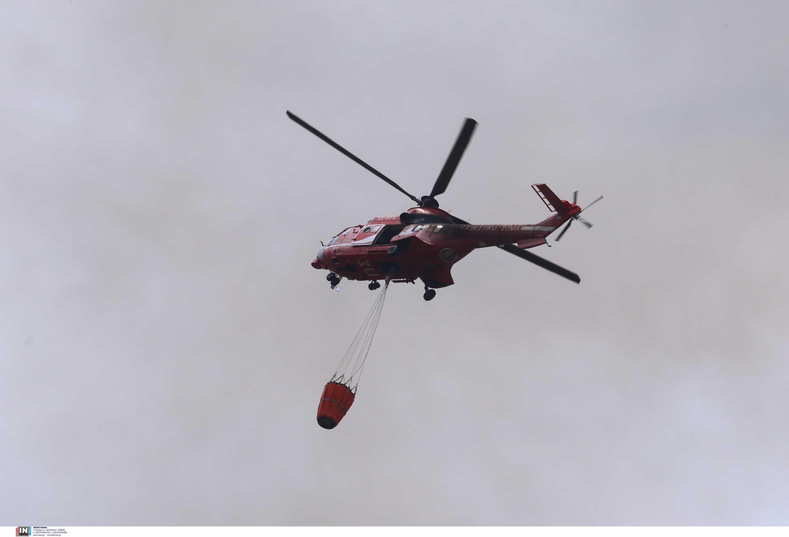 Κρήτη: Μεγάλη φωτιά στονΆγιο Θωμά – Επιχειρούν δύο ελικόπτερα