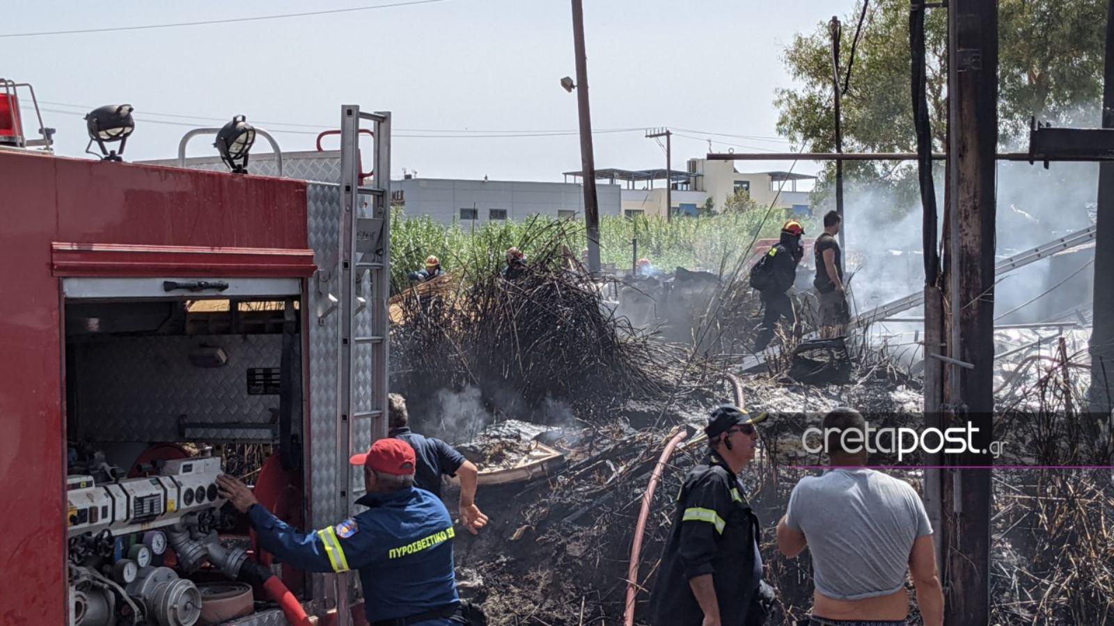 Κρήτη: Μία σύλληψη για τη φωτιά κοντά σε βενζινάδικο
