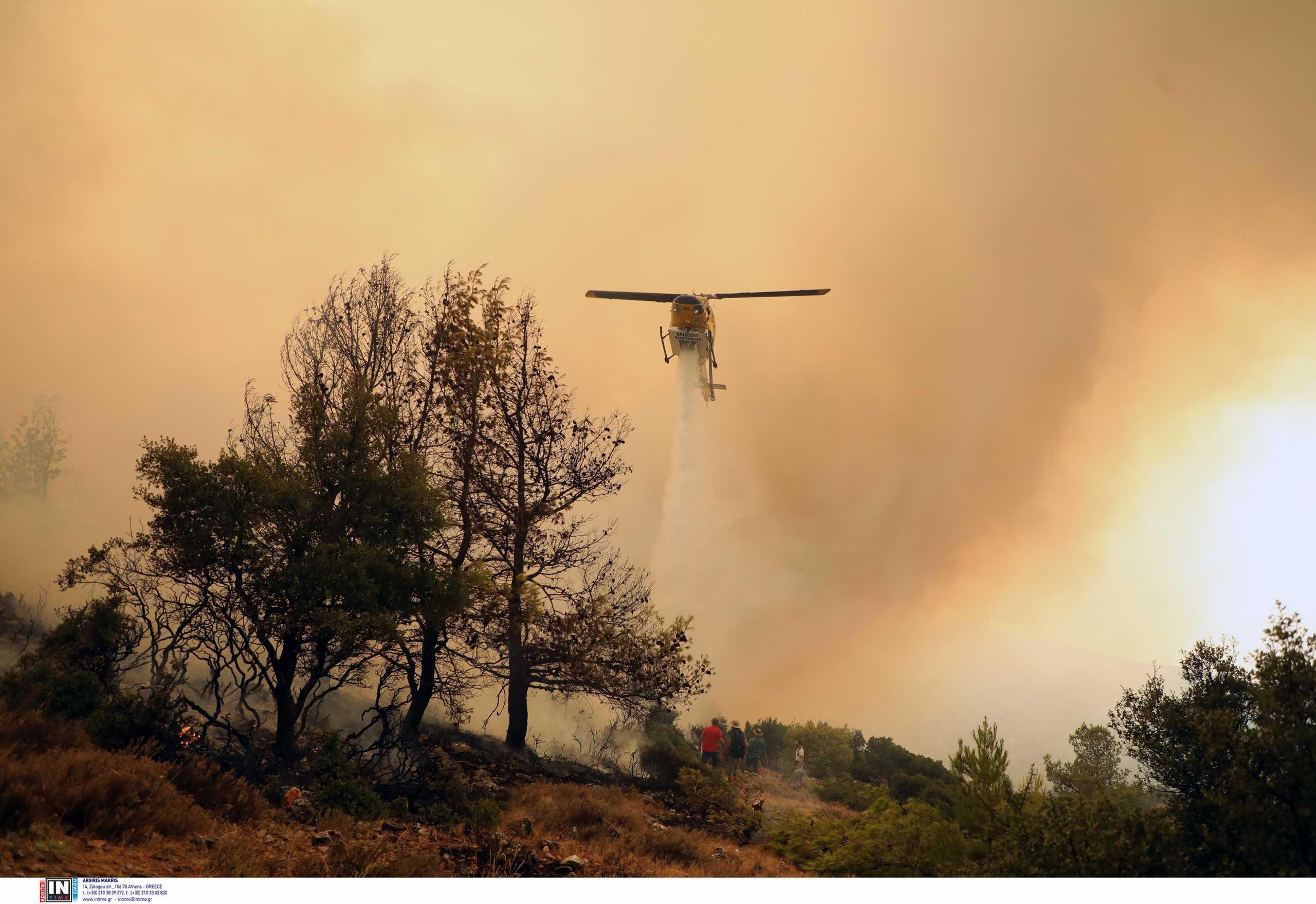Αιτωλοακαρνανία: Φωτιά στην Αστροβίτσα Αιτωλικού – Ρίψεις και από 4 πυροσβεστικά αεροπλάνα