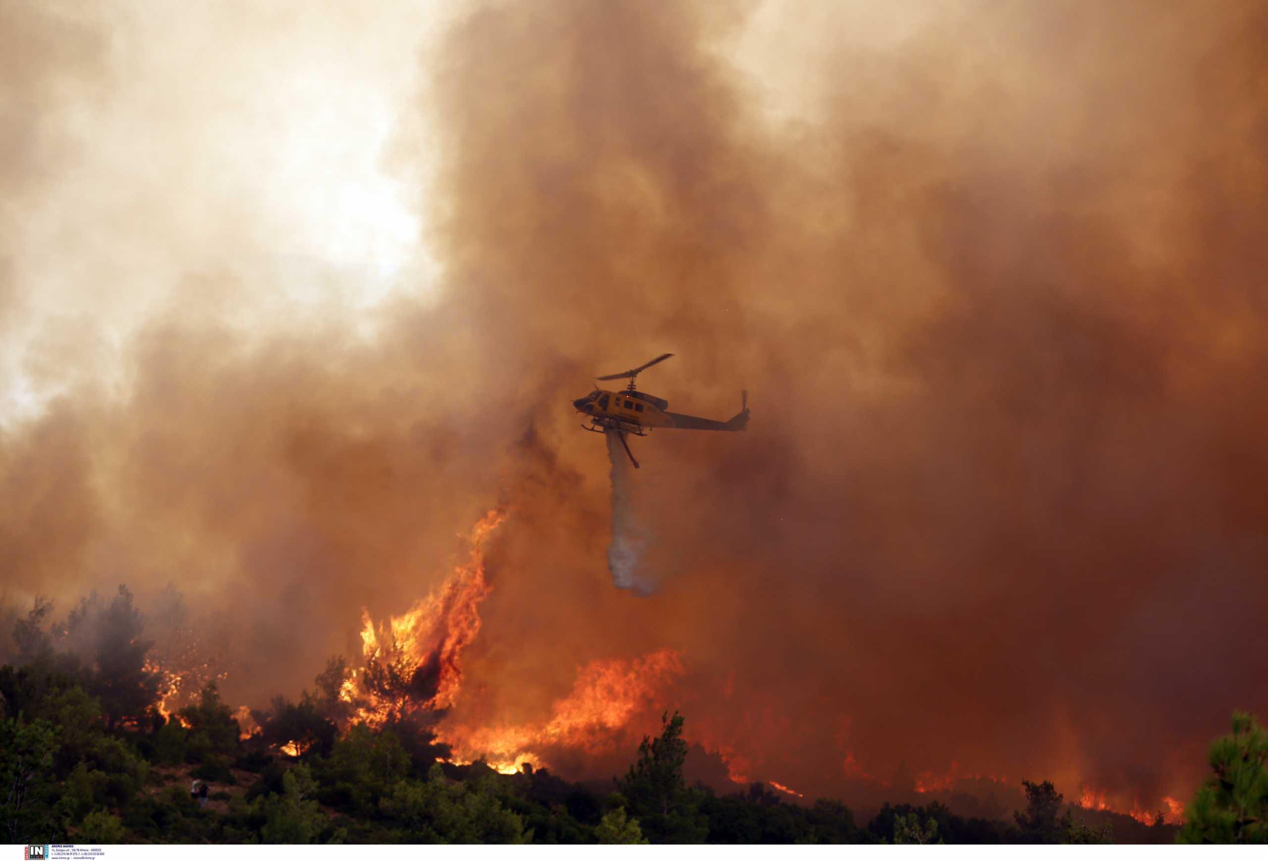 Φωτιά στην Καστοριά στην περιοχή Μονόπυλο Νεστορίου