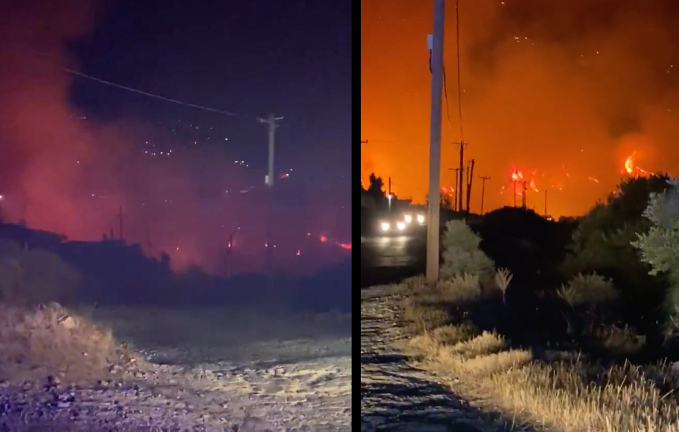 Φωτιά στην Κερατέα: Πέταξαν φωτοβολίδες στο δάσος και ξέσπασε πυρκαγιά – Μήνυμα από το 112 για εκκένωση