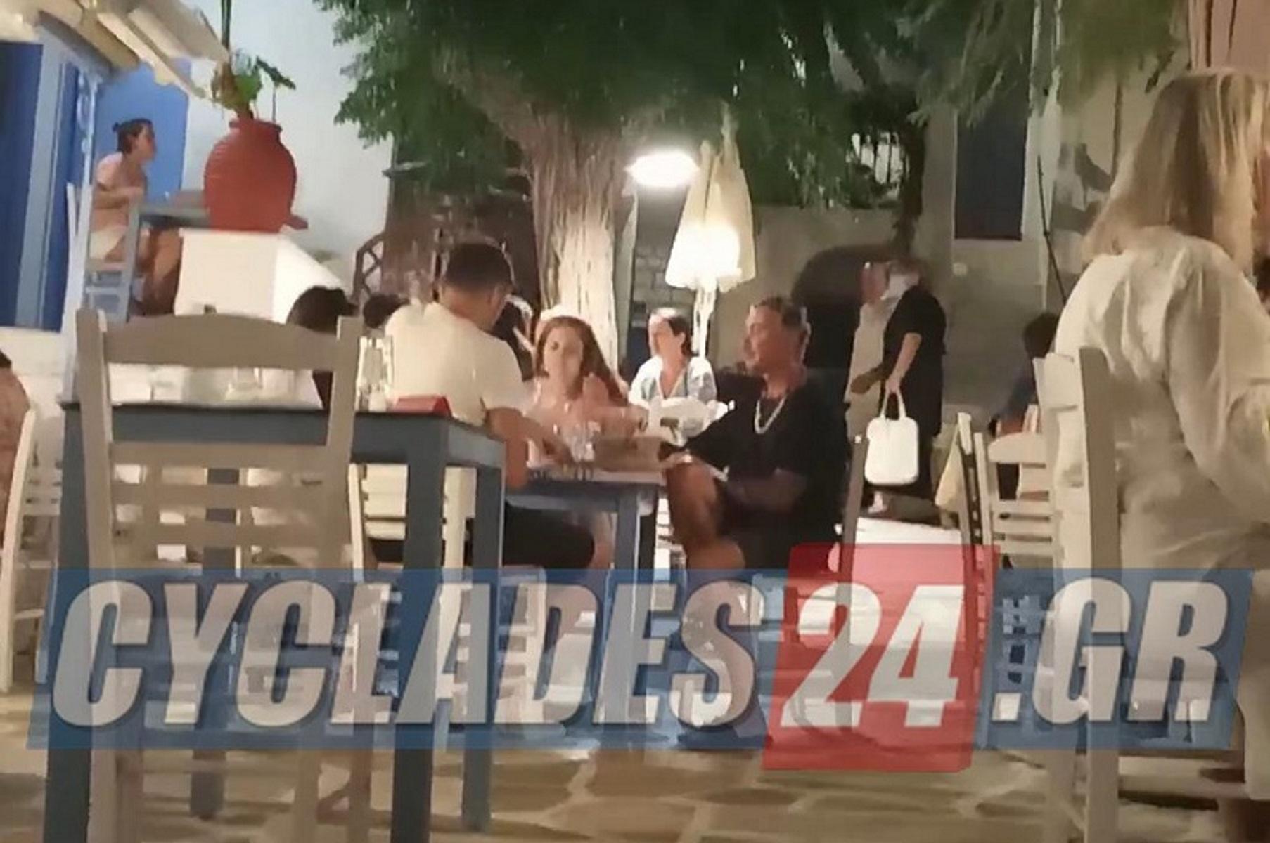 Λάκης Γαβαλάς: Διακοπές στην Πάρο
