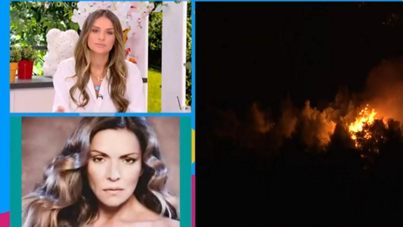 Έντρομη η Λίτσα Γιαγκούση στον αέρα για τις φωτιές στα Βίλια