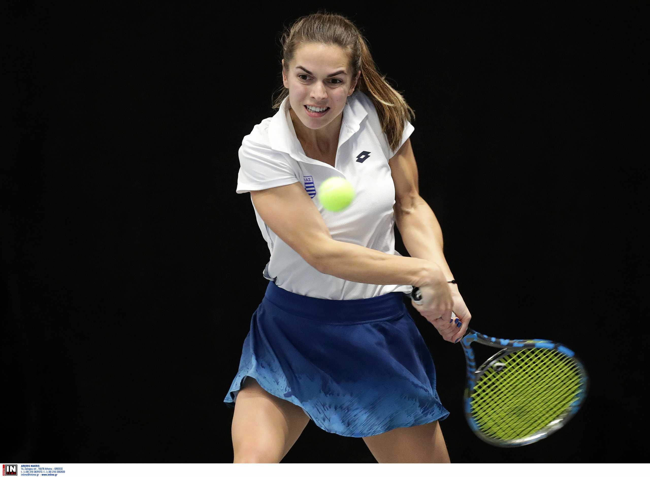 Η Βαλεντίνη Γραμματικοπούλου διέλυσε την Μπλίνκοβα και προκρίθηκε στον δεύτερο γύρο του US Open