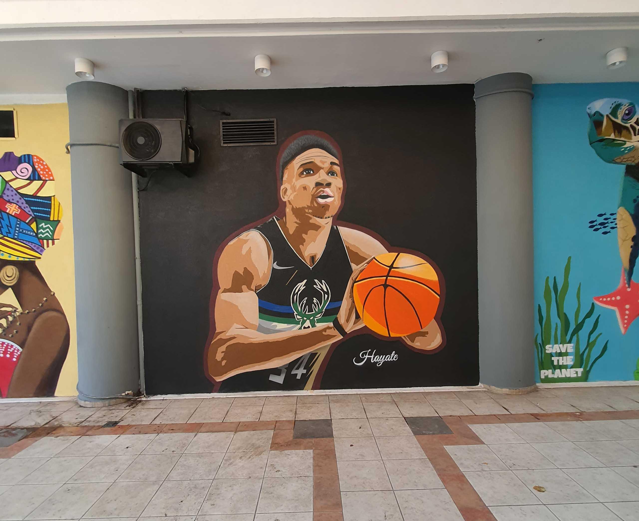 Η τοιχογραφία με τον Γιάννη Αντετοκούνμπο στη Θεσσαλονίκη που κάνει τα βλέμματα να γυρίζουν