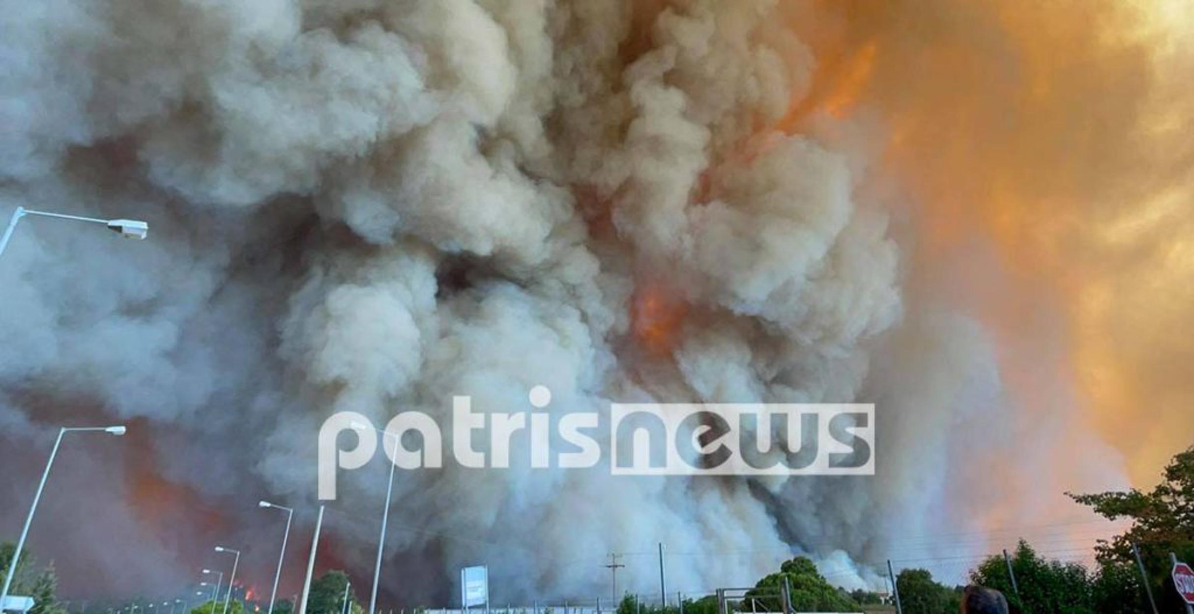 Φωτιά στην Ηλεία: Εκκενώνονται νέοι οικισμοί