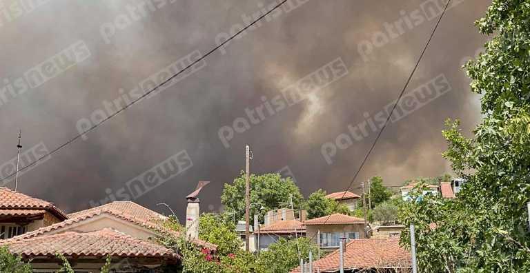 Καίγεται η Ηλεία - Εκκενώνονται περιοχές και η φωτιά πάει προς Ολυμπία