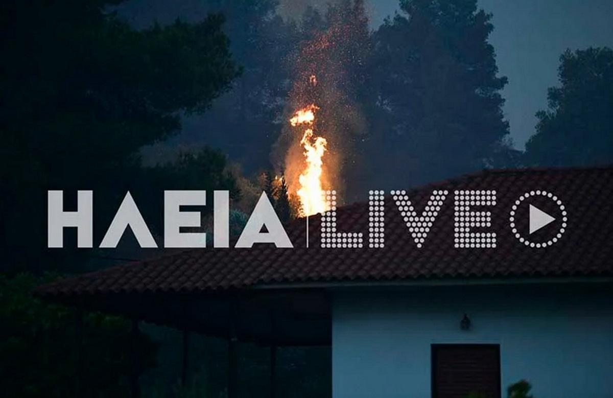 Σε κατάσταση έκτακτης ανάγκης κοινότητες του δήμου Πύργου – Προσπάθειες να σωθεί η Μουριά από τη φωτιά
