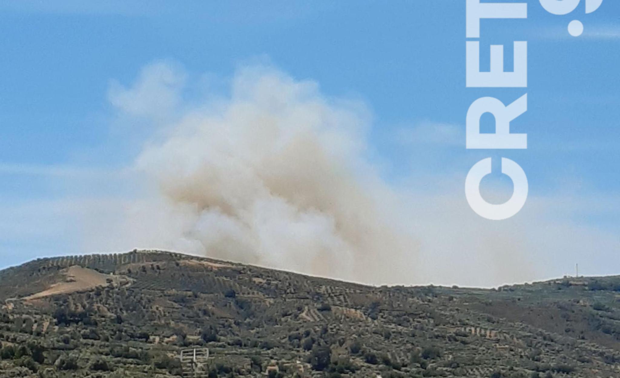Φωτιά στο Ηράκλειο – Στην περιοχή του Αγίου Θωμά