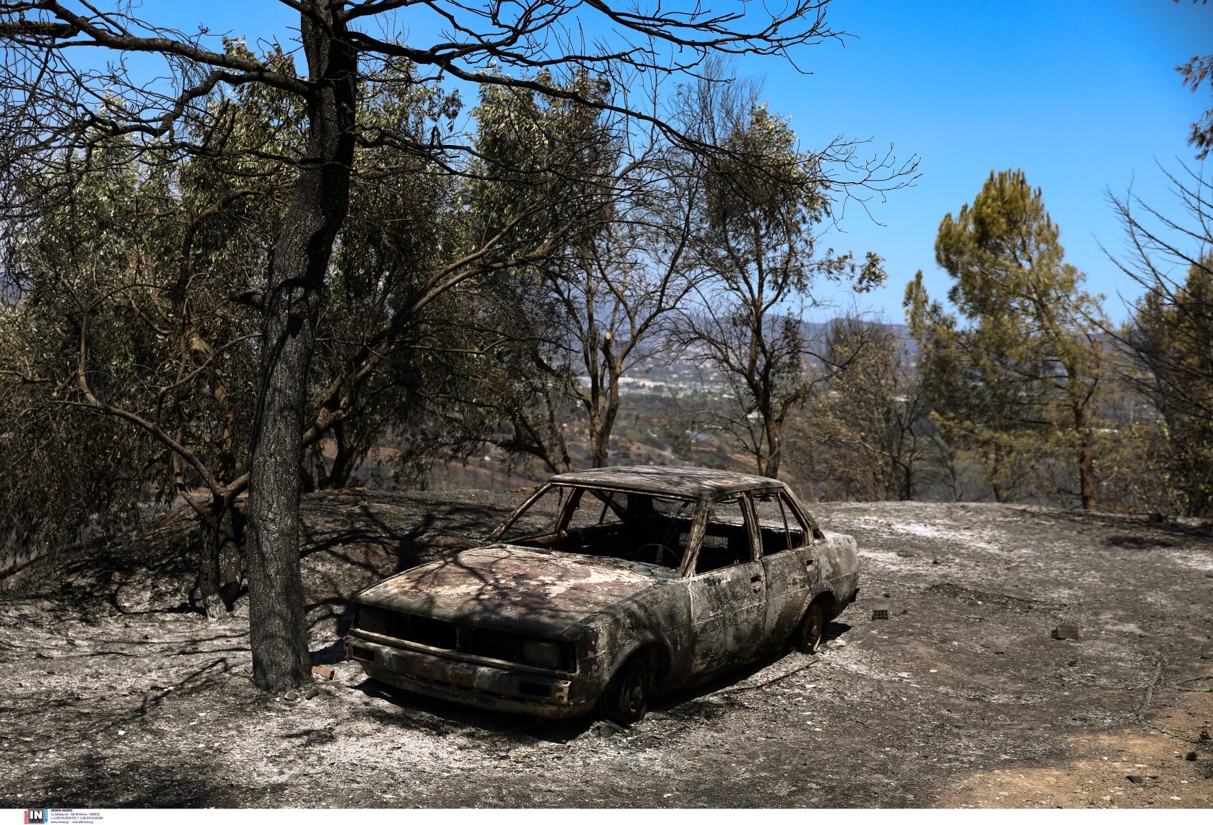 Φωτιές: Αγοράζουν καμένα ΙΧ από τις πληγείσες περιοχές για να «νομιμοποιήσουν» κλεμμένα